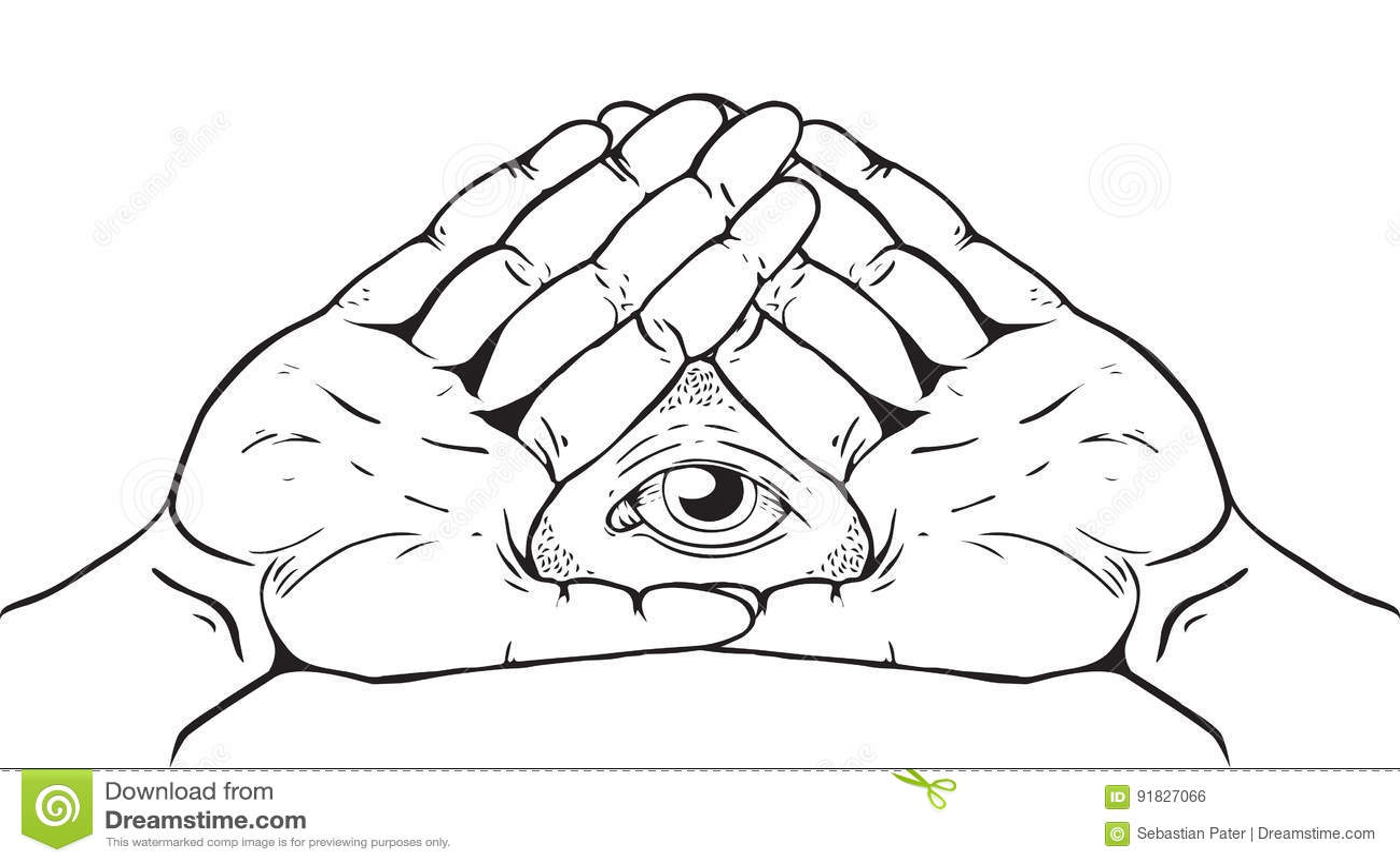 Знак Illuminati - глаз бога