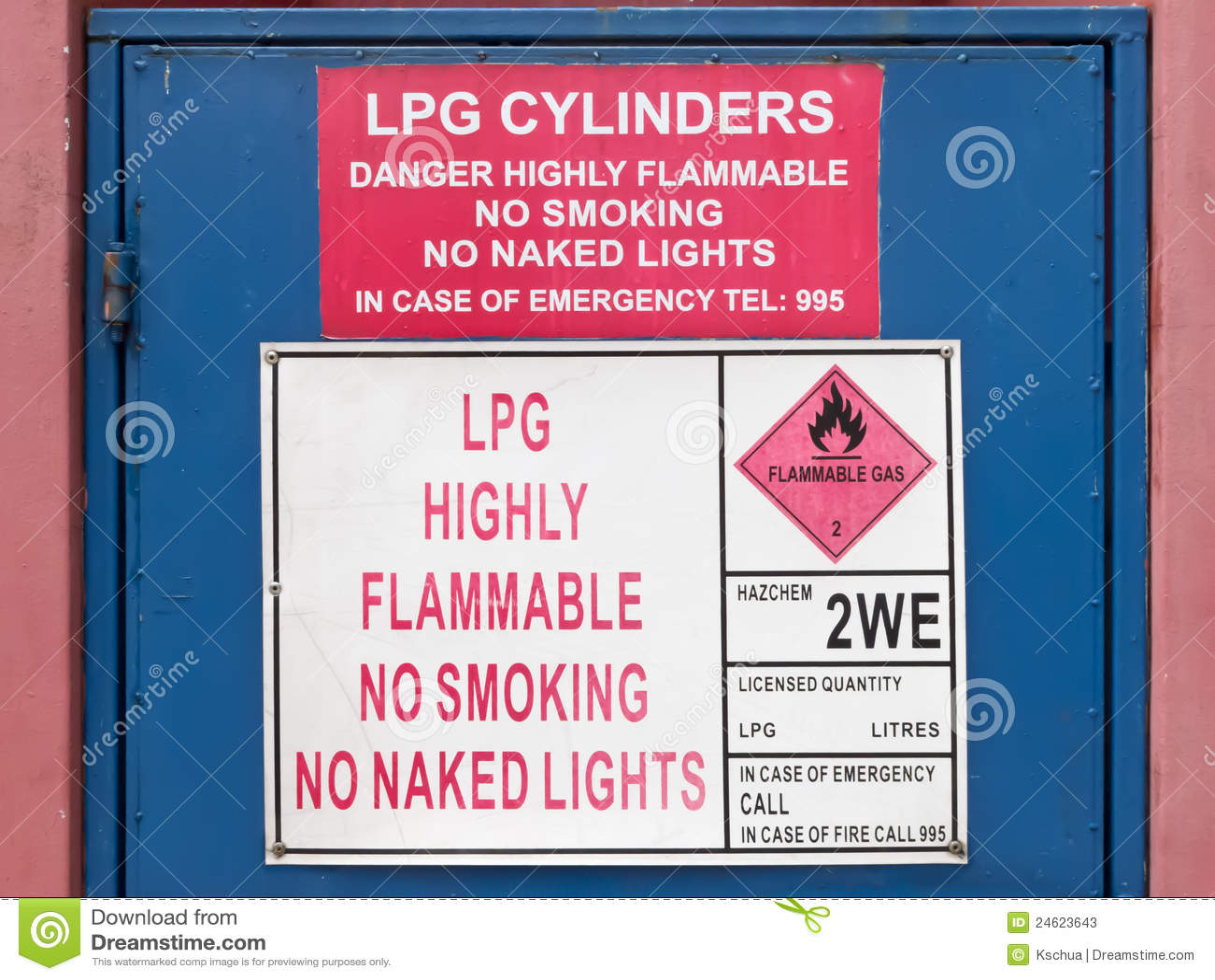Знак LPG высоки огнеопасный