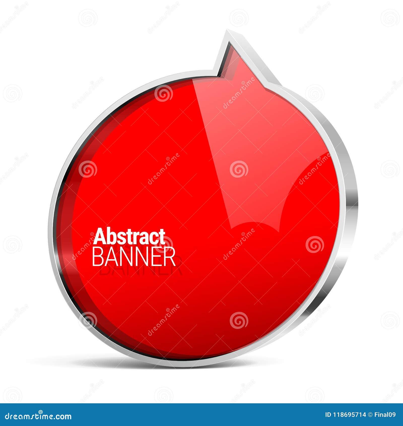 Знамя вектора сияющего лоска красное
