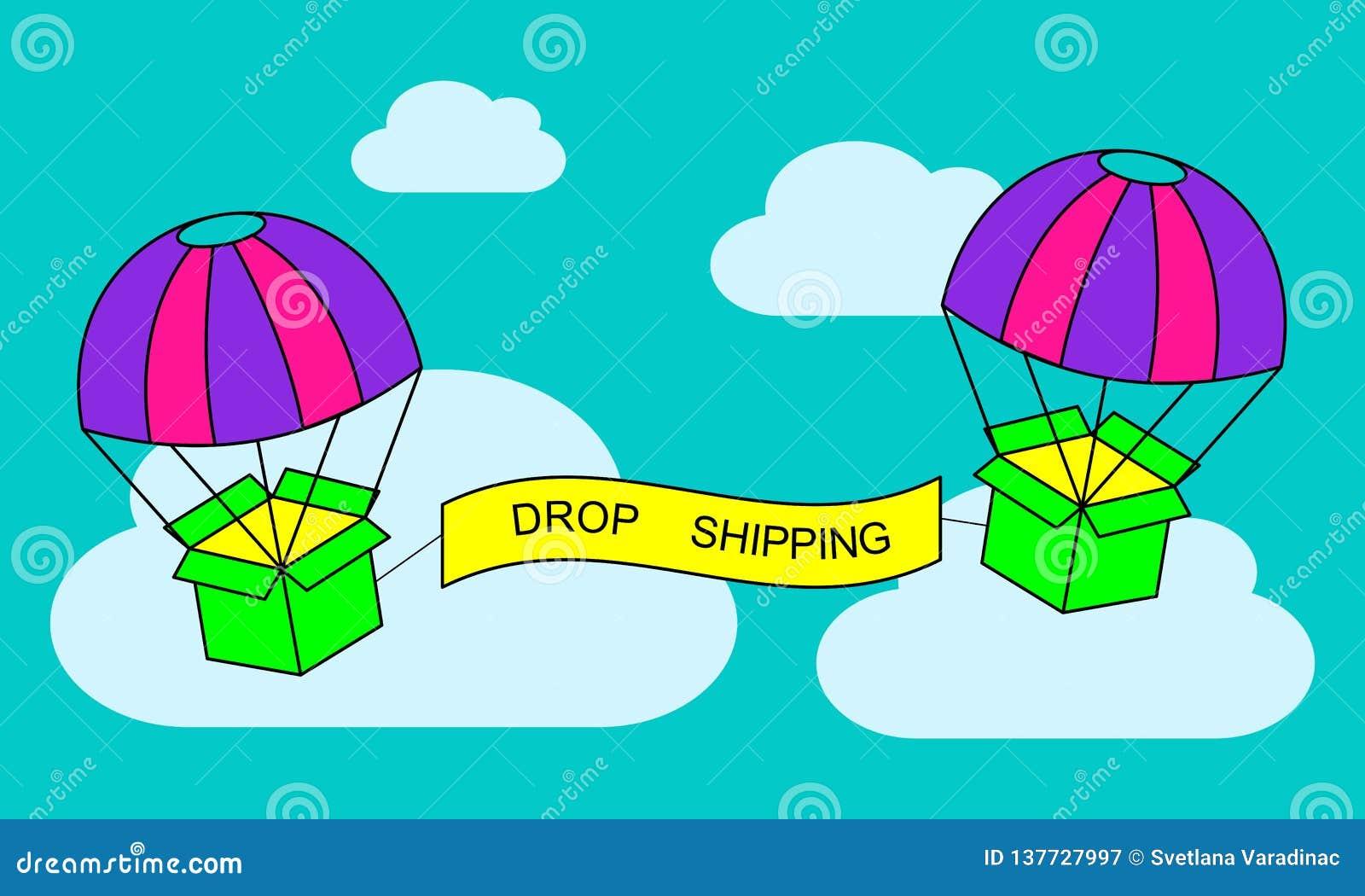 Знамя сети для доставки или электронной коммерции падения