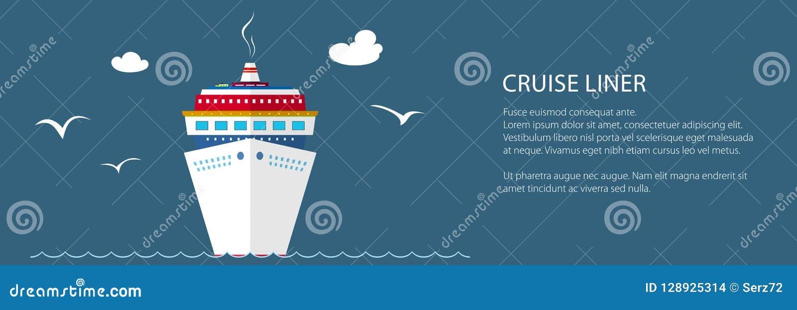 Знамя туристического судна на море