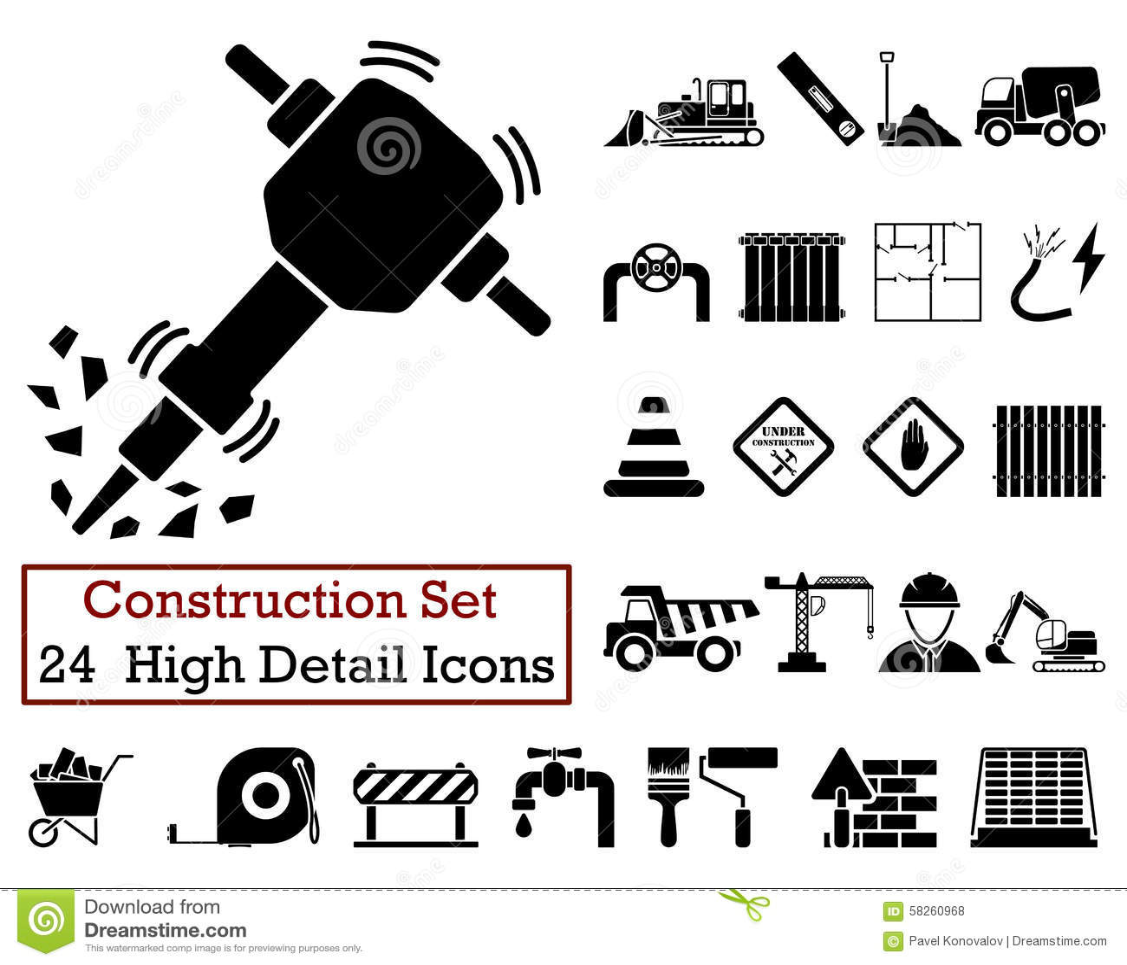 24 значка конструкции
