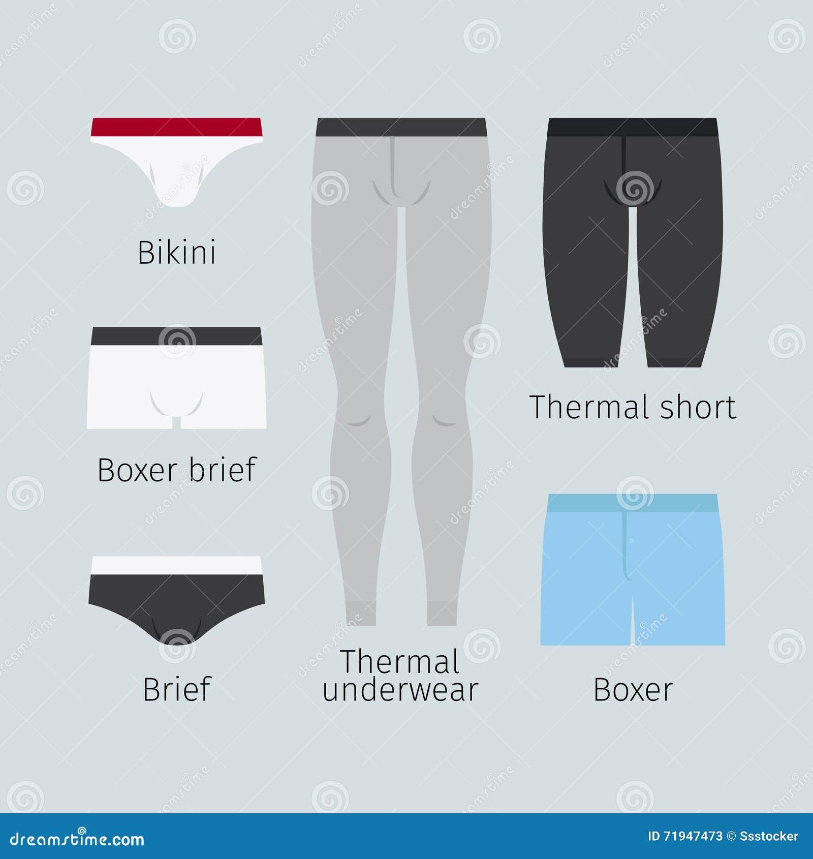 Значки вектора нижнего белья человека