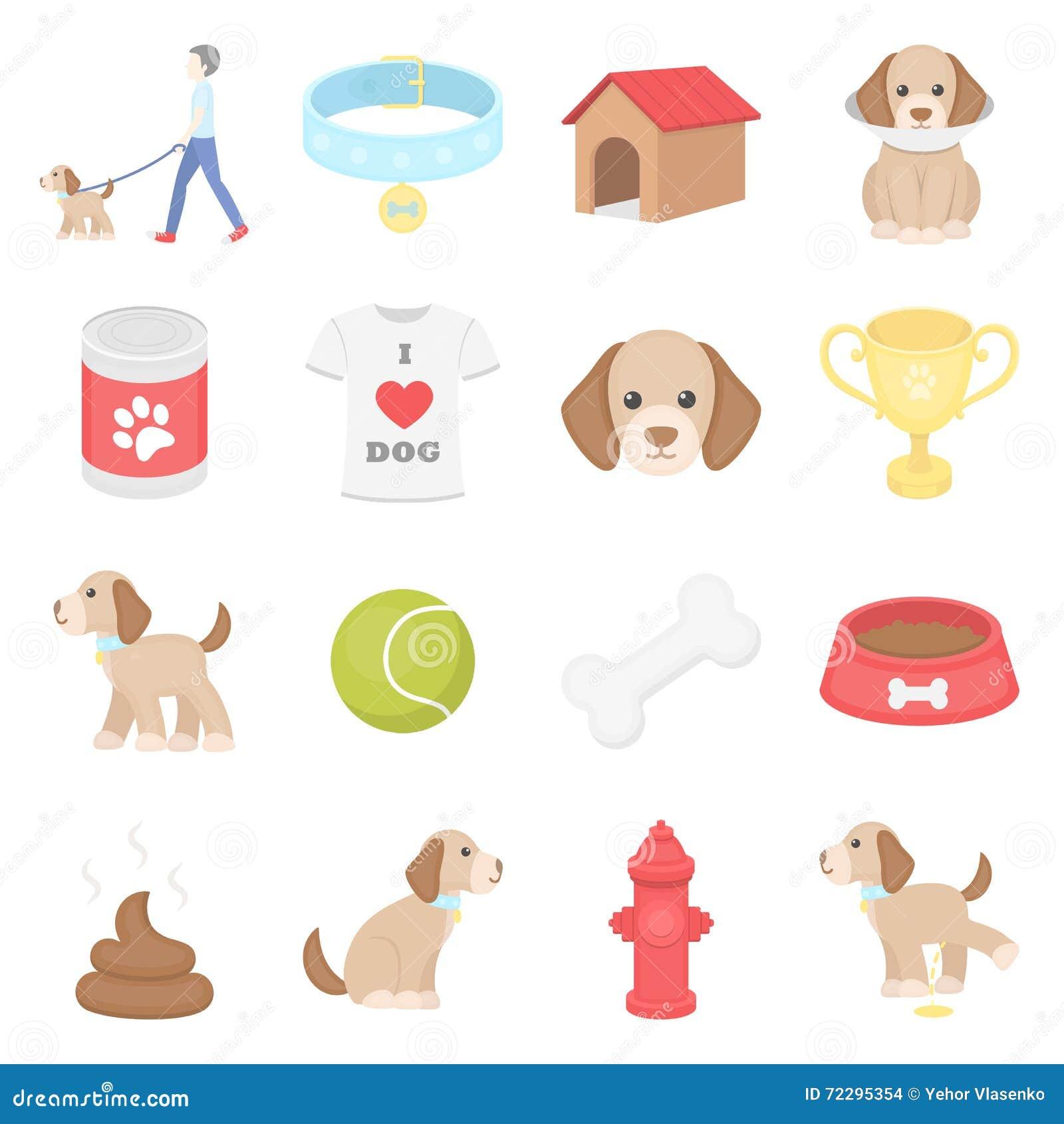 Download Значки вектора собаки 16 установили в стиль шаржа Иллюстрация вектора - иллюстрации насчитывающей bowie, пожар: 72295354