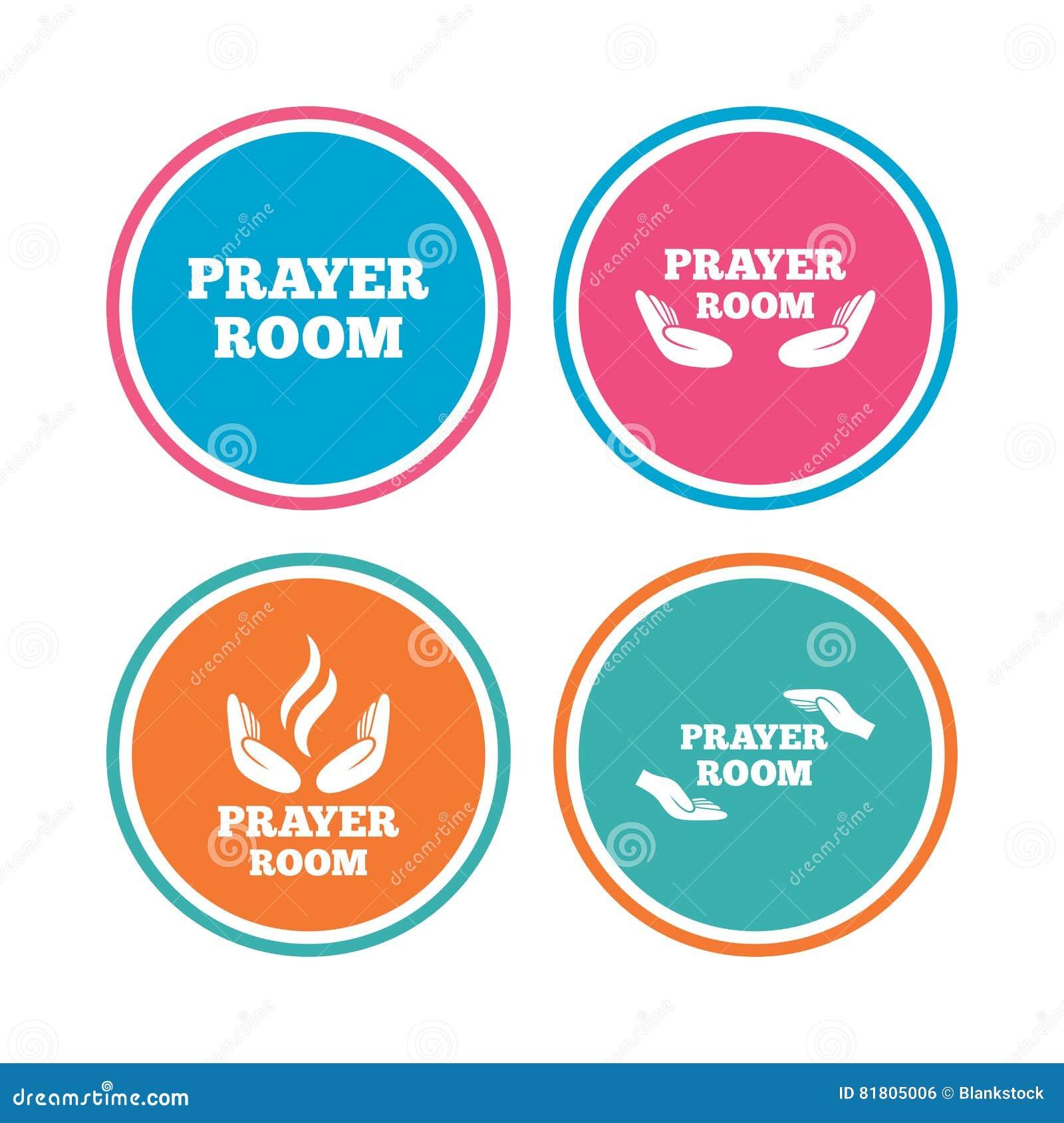 Значки комнаты молитве Символы священника вероисповедания