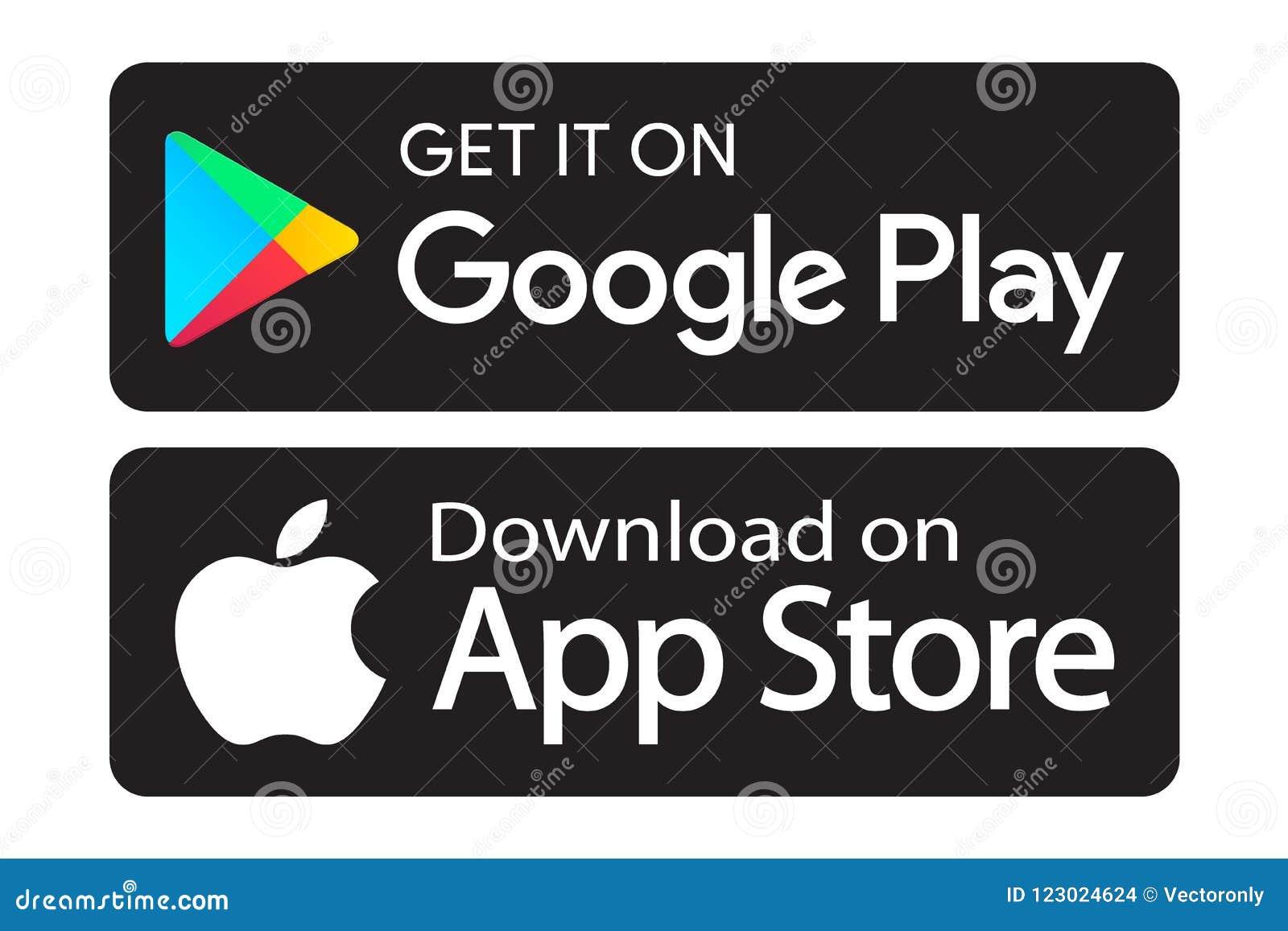 Значки магазина app игры Google