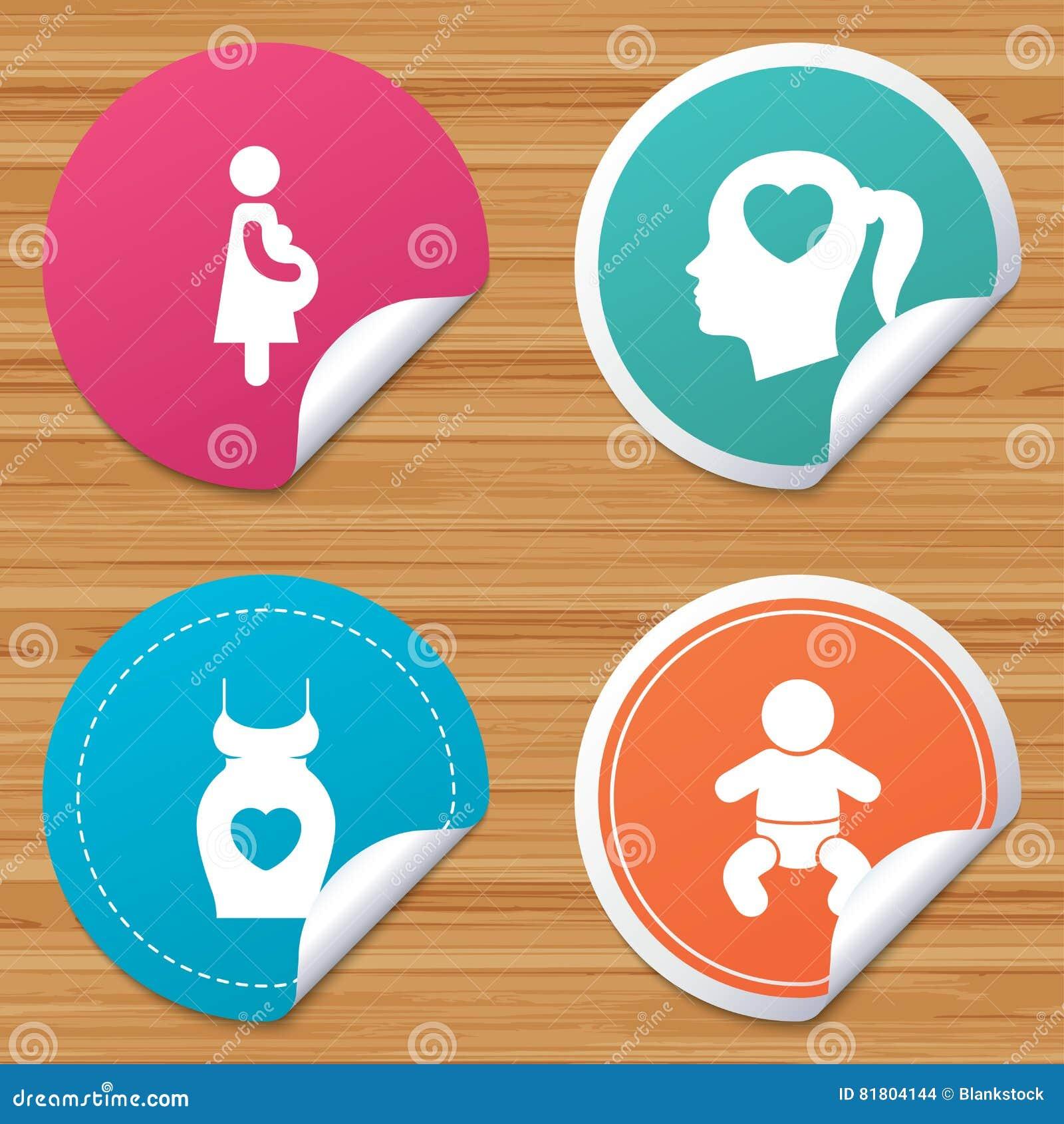 Значки материнства Младенец младенца, беременность, платье