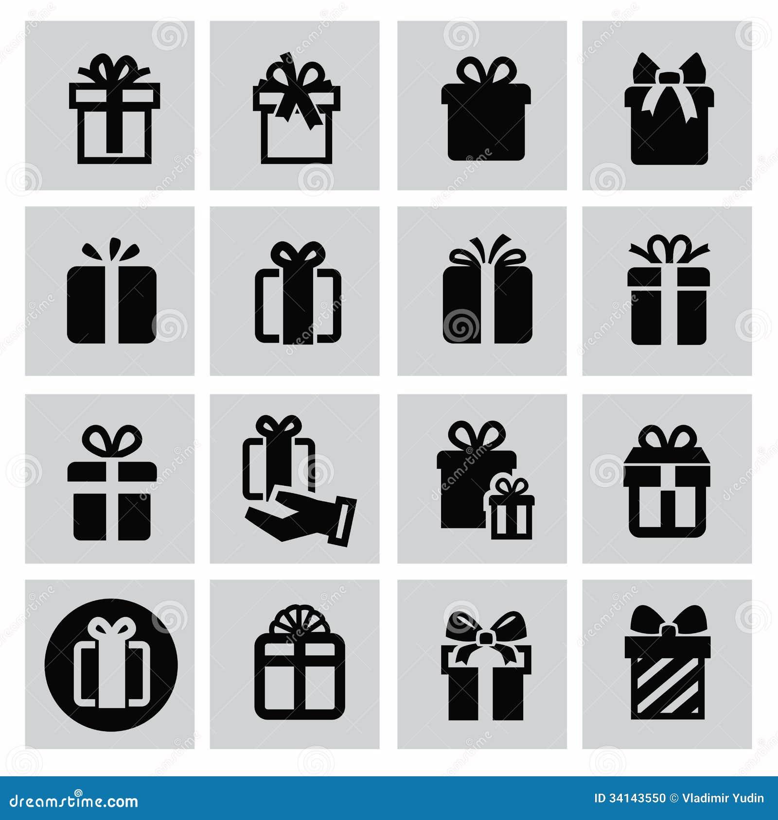 Значок подарка вектора черный ...: ru.dreamstime.com/стоковое-фото-значки-по...