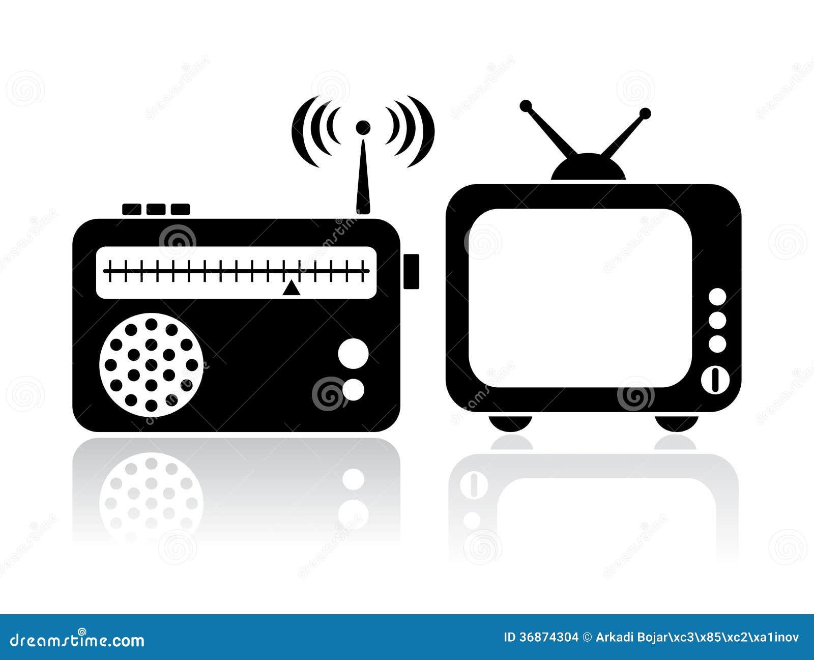 Значки радио ТВ