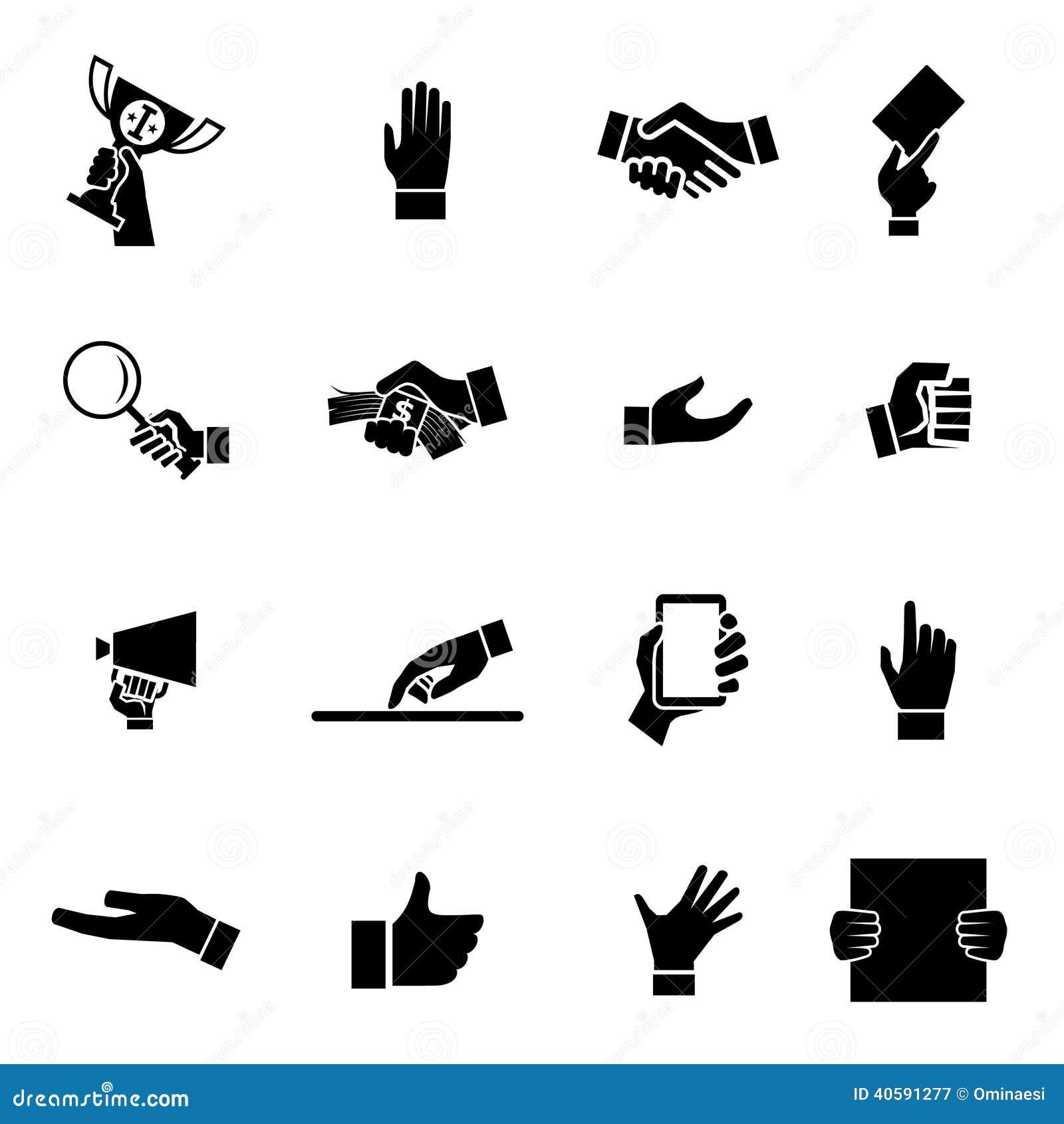 Значки рук и иллюстрация вектора шаблона дизайна символа
