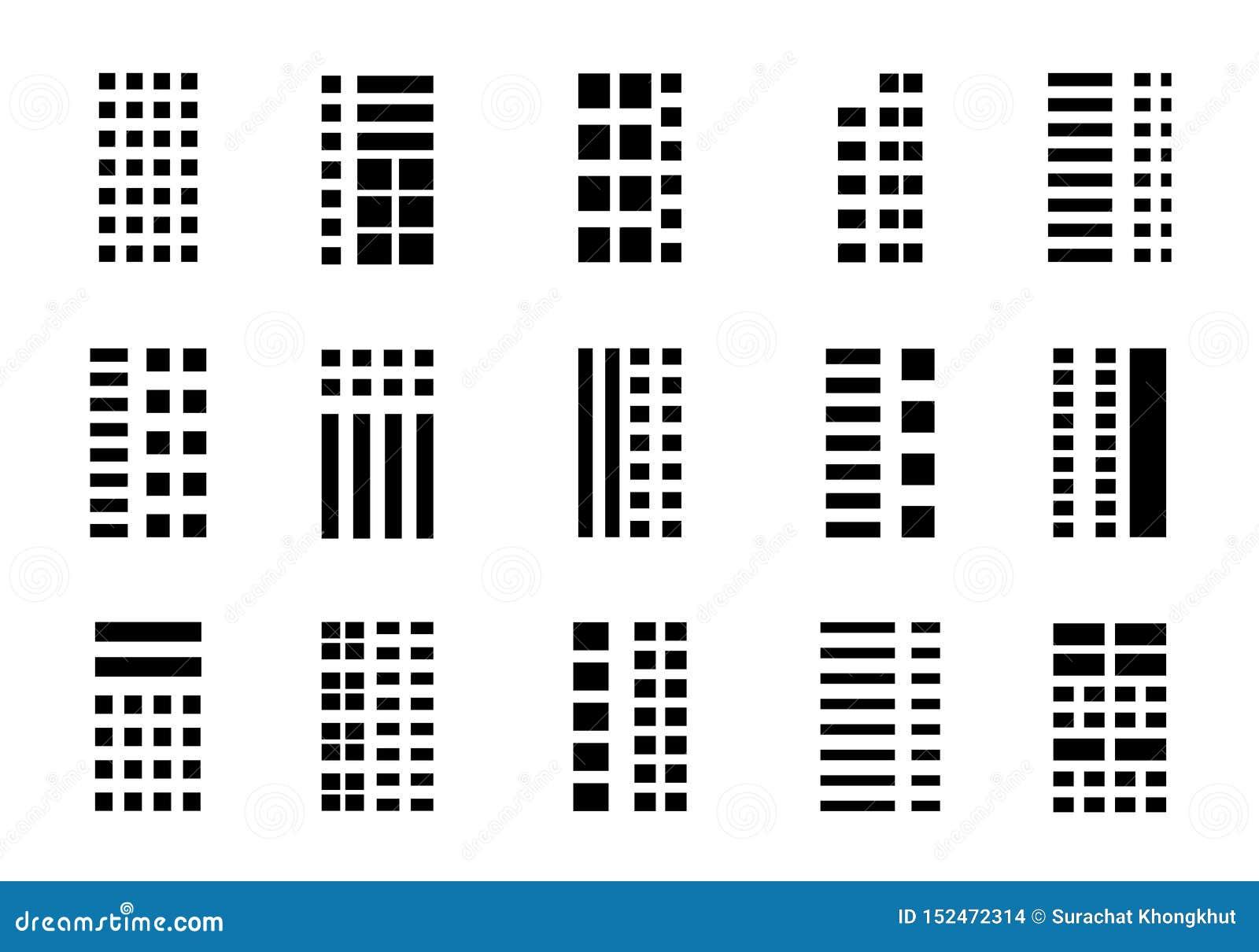 Значки строя компанию установили на белую предпосылку, черную линию собрание офиса вектора, изолированную иллюстрацию дела