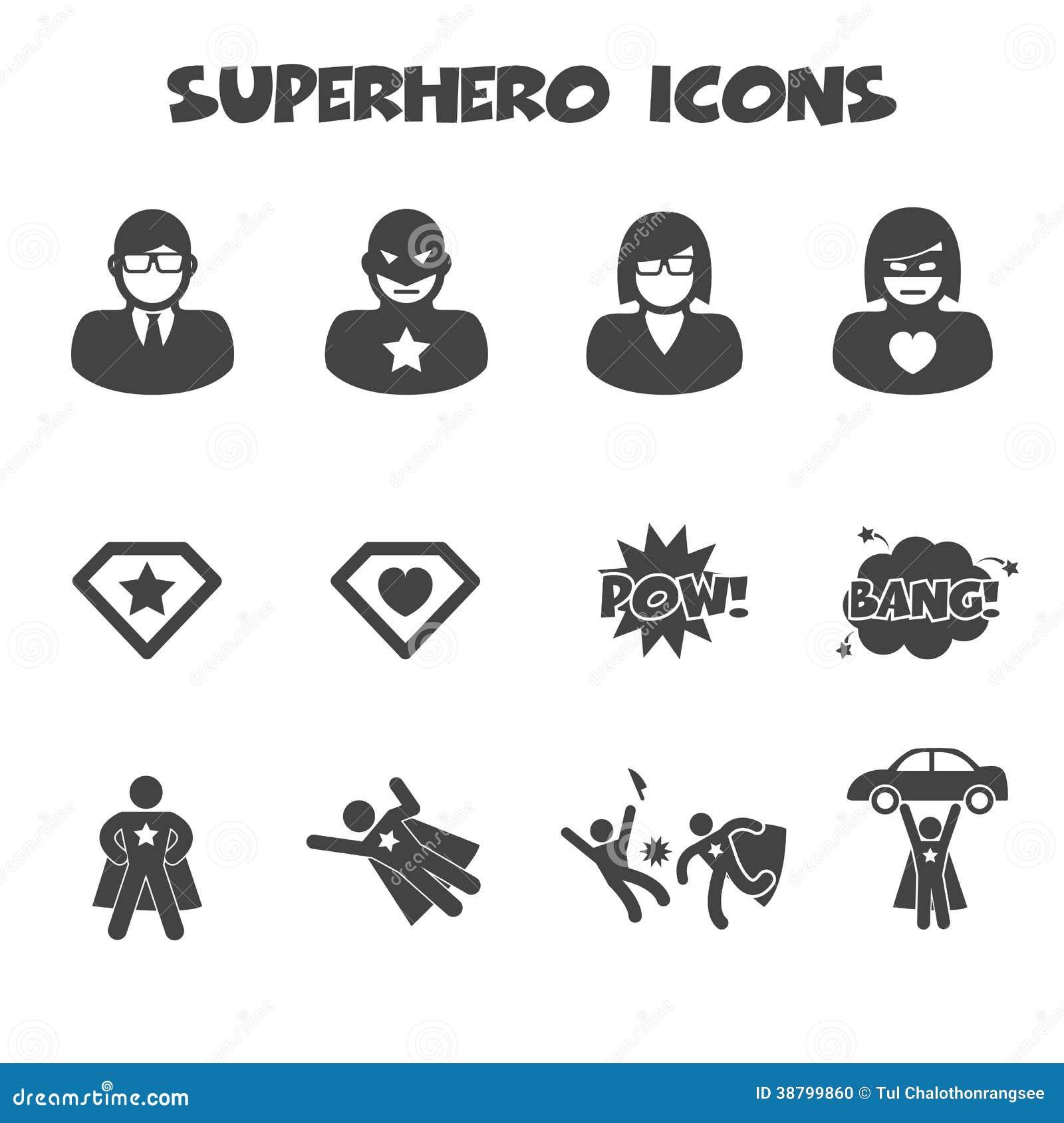картинки супергероев значки
