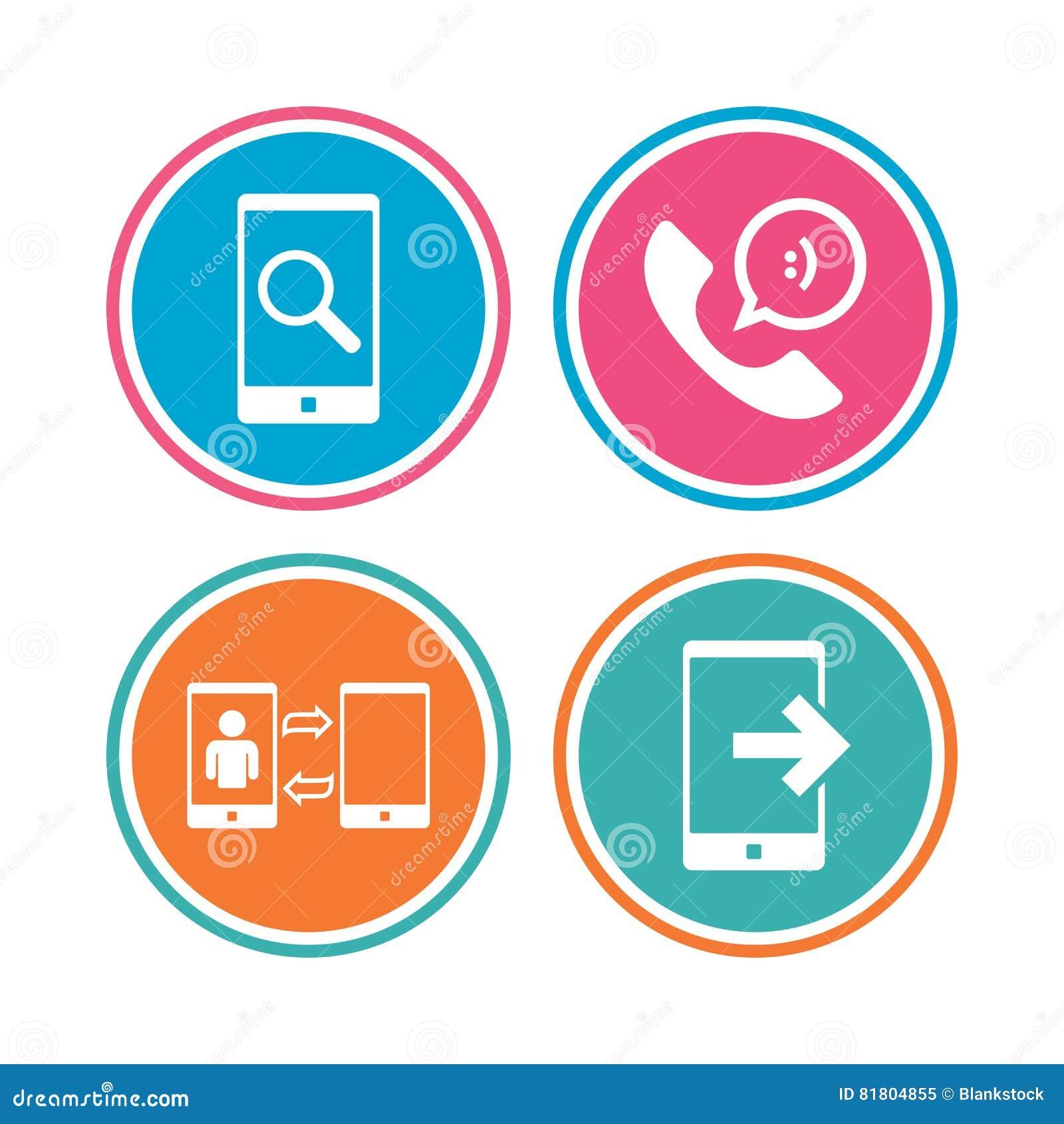 Значки телефона Символ поддержки центра телефонного обслуживания