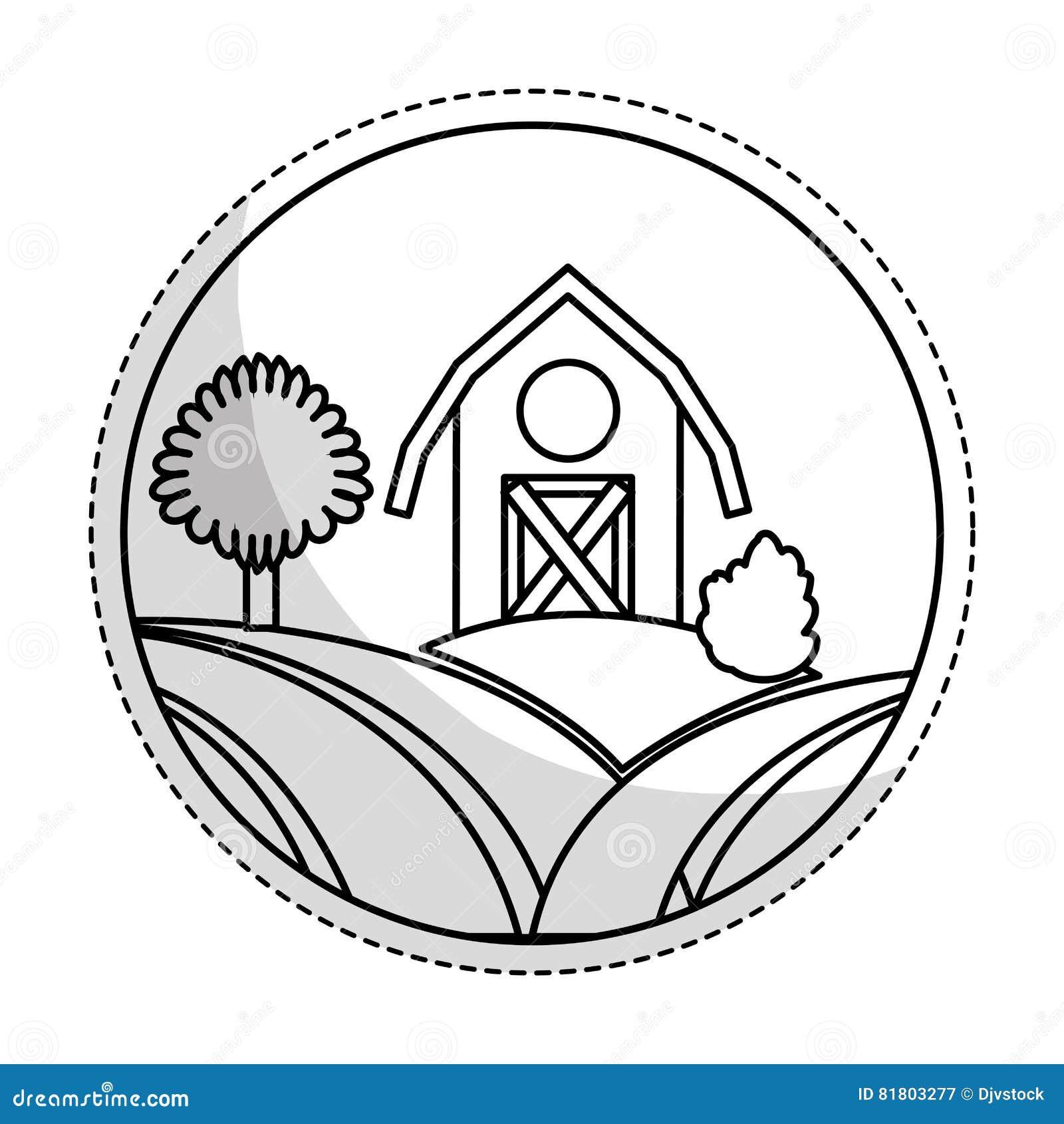 Значок амбара фермы