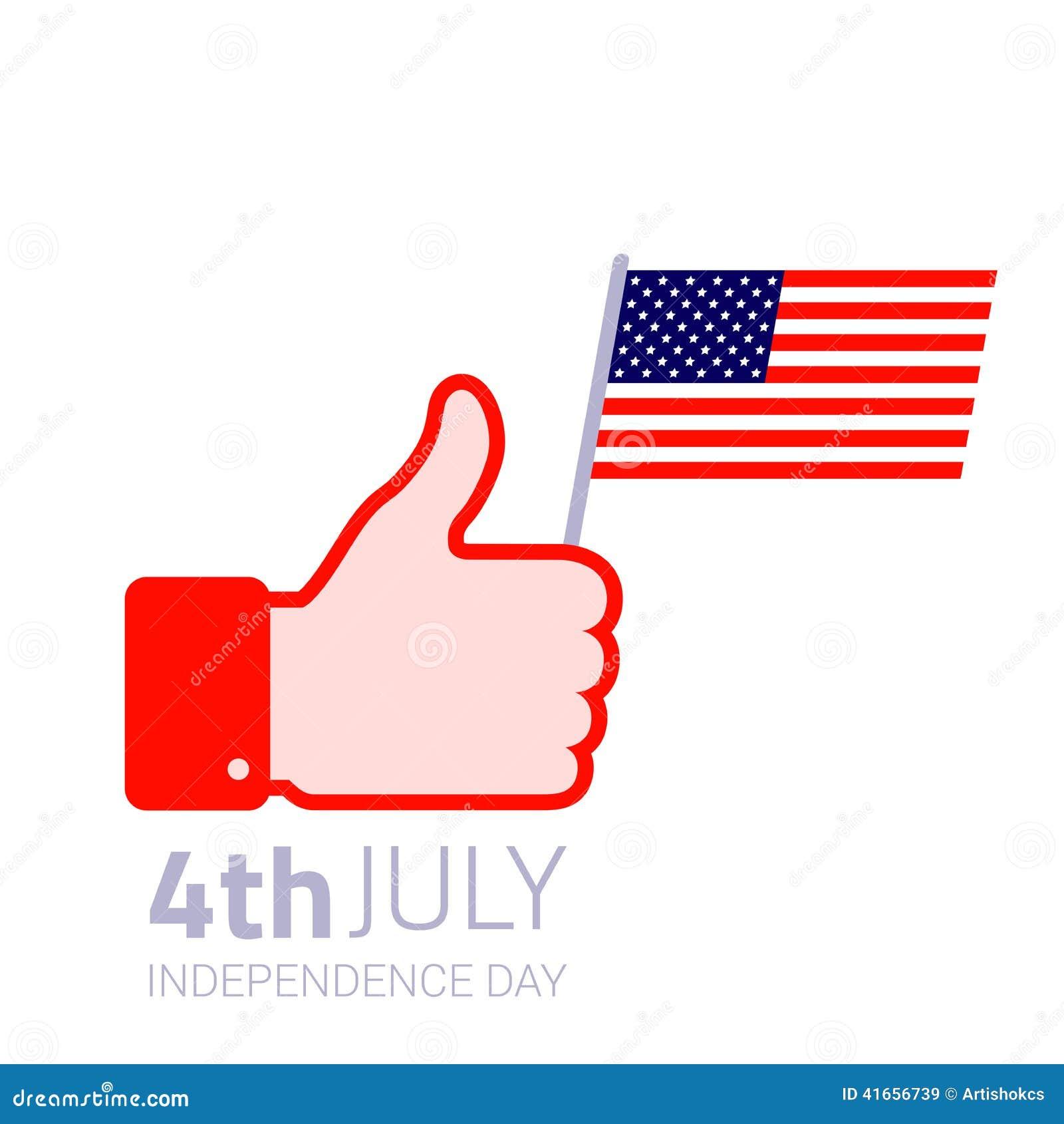 Значок американского флага владением большого пальца руки поднимающий вверх