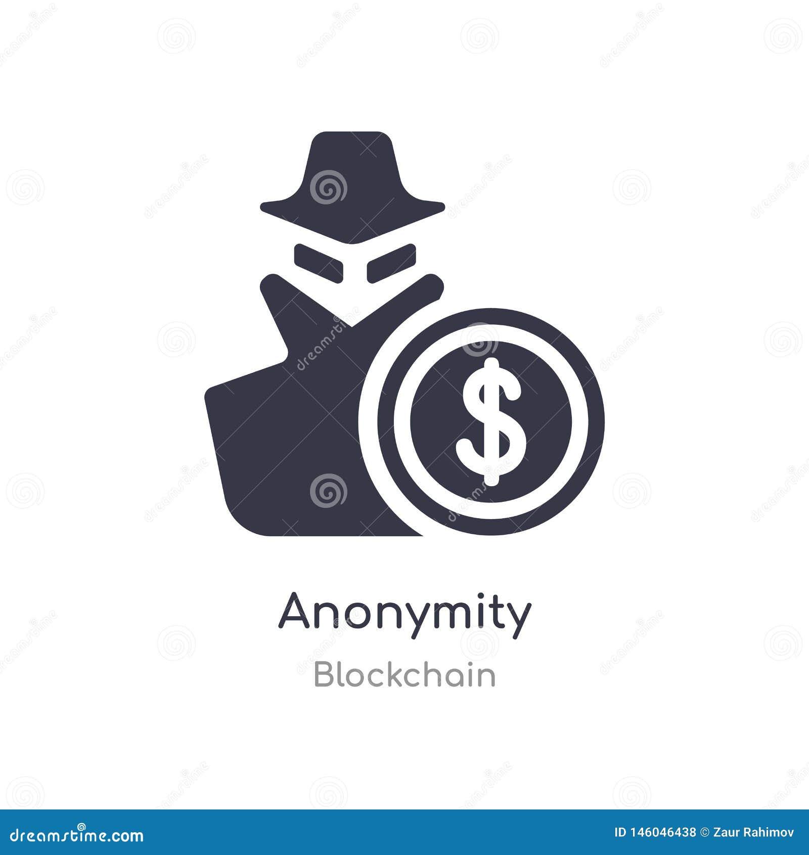 значок анонимности изолированная иллюстрация вектора значка анонимности от собрания blockchain editable спойте символ смогите быт