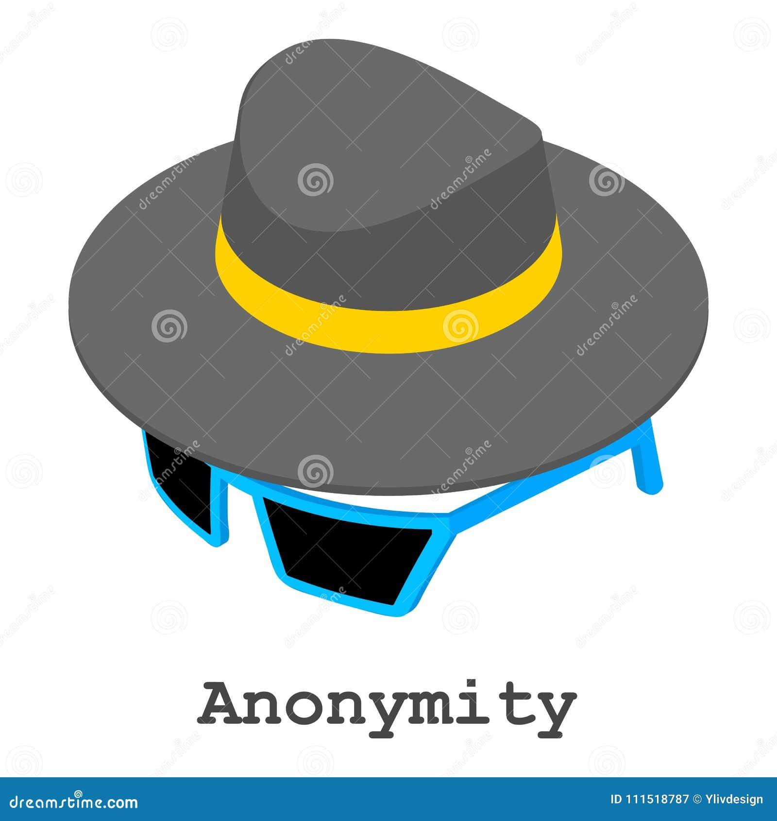 Значок анонимности, равновеликий стиль