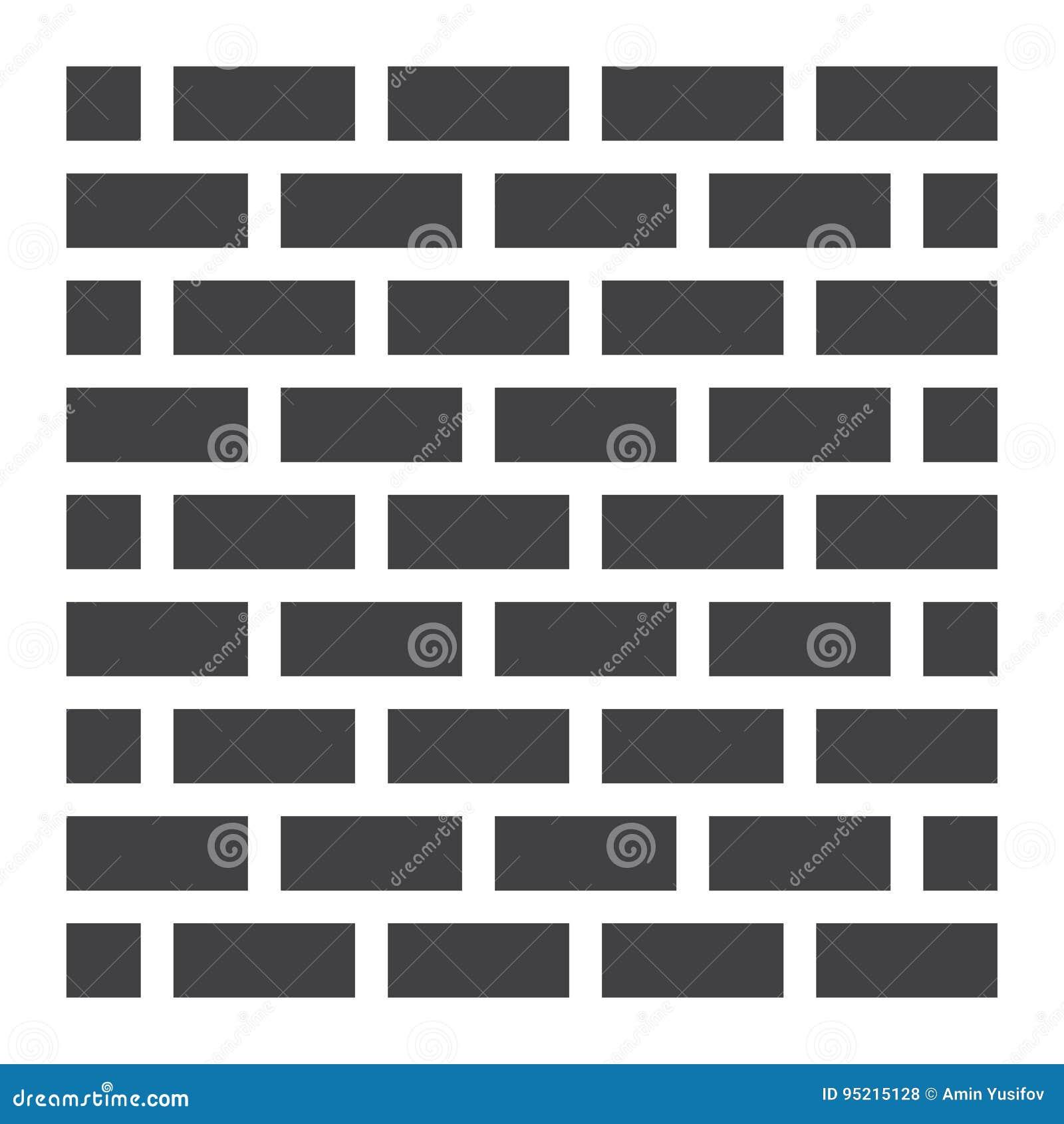Значок, безопасность и строение кирпичной стены твердые
