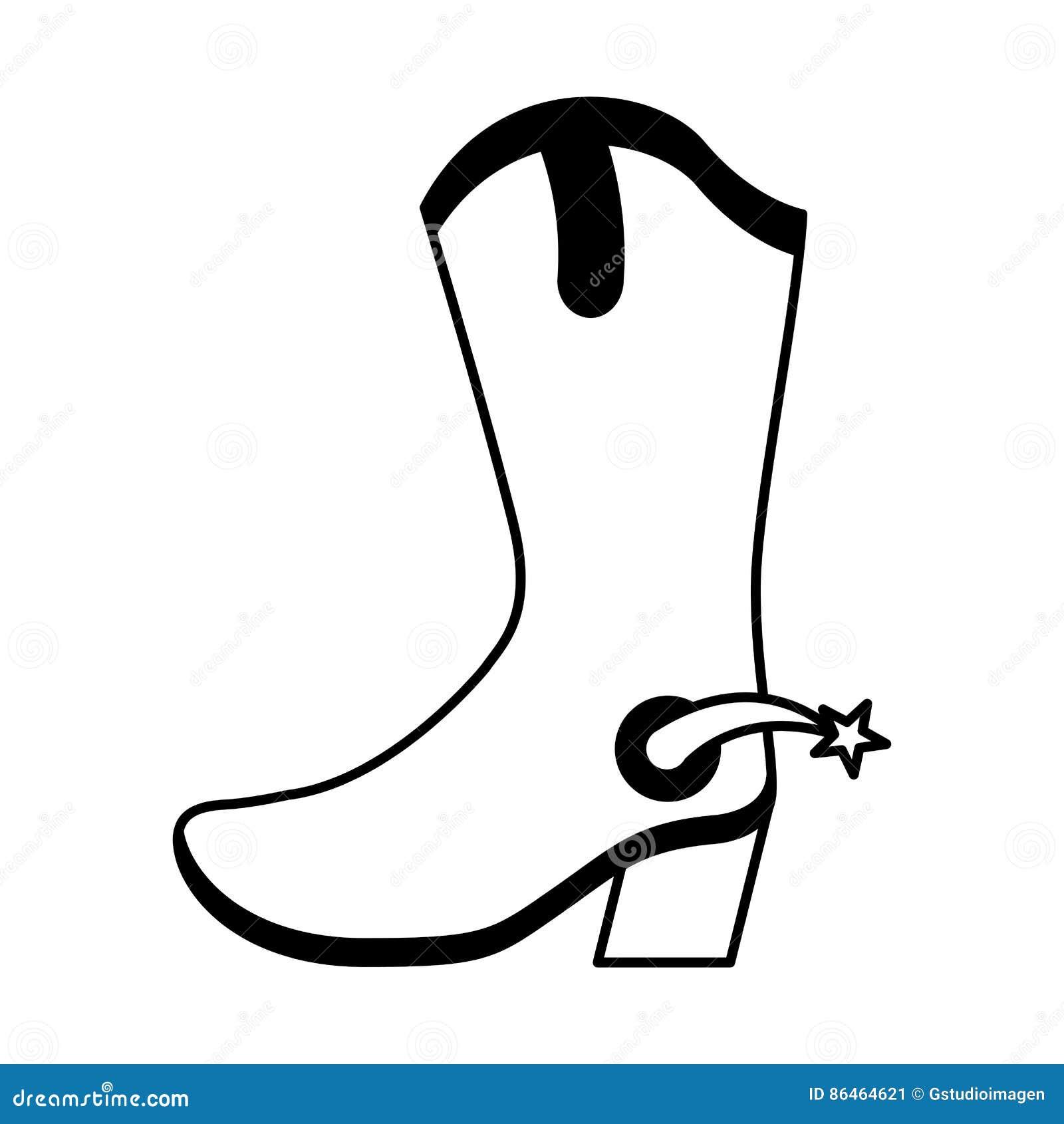 Значок ботинка ботинка ковбоя