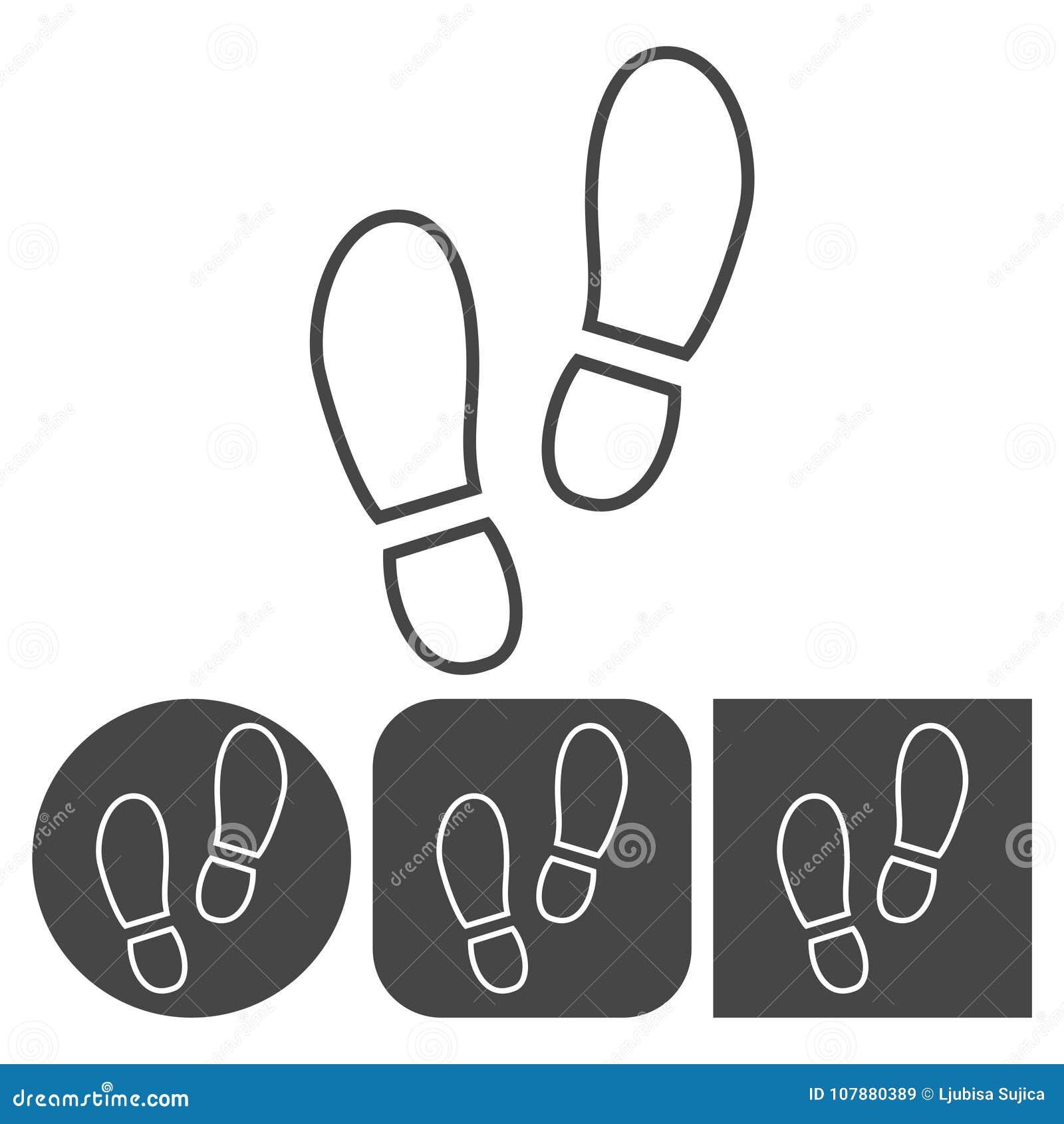 Значок ботинка спорта - установленные значки вектора