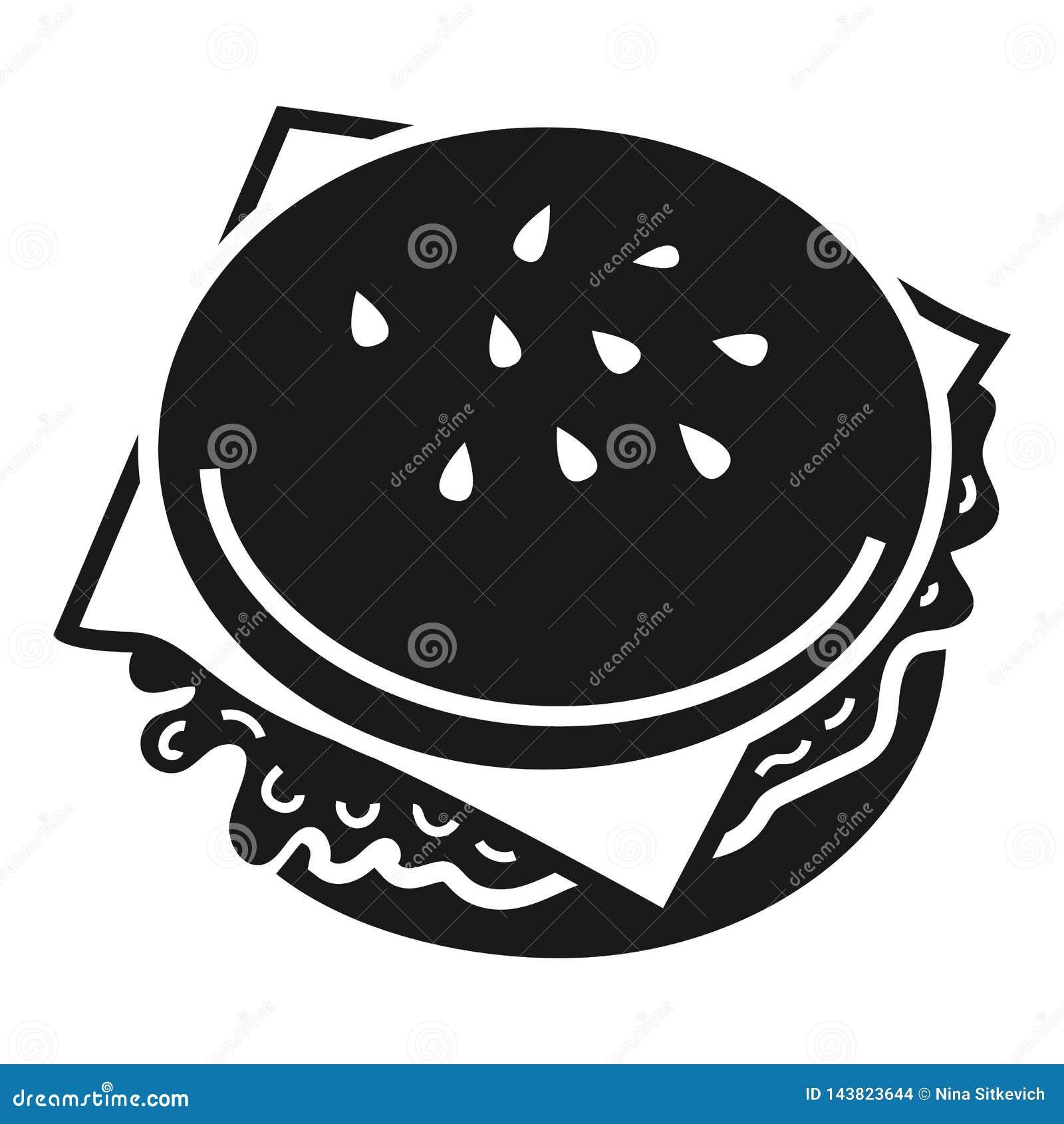 Значок бургера, простой стиль