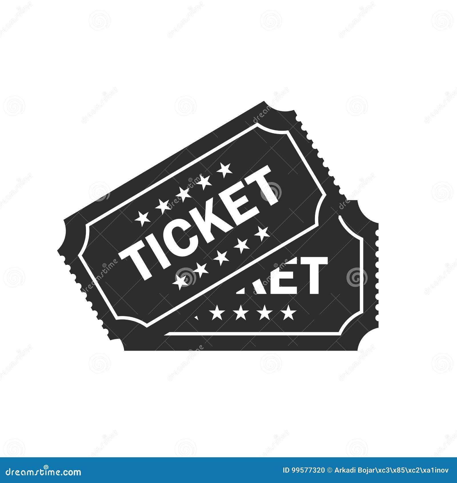 Значок вектора билета