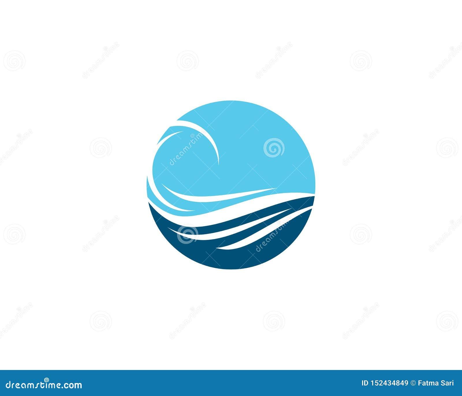 Значок вектора волны воды