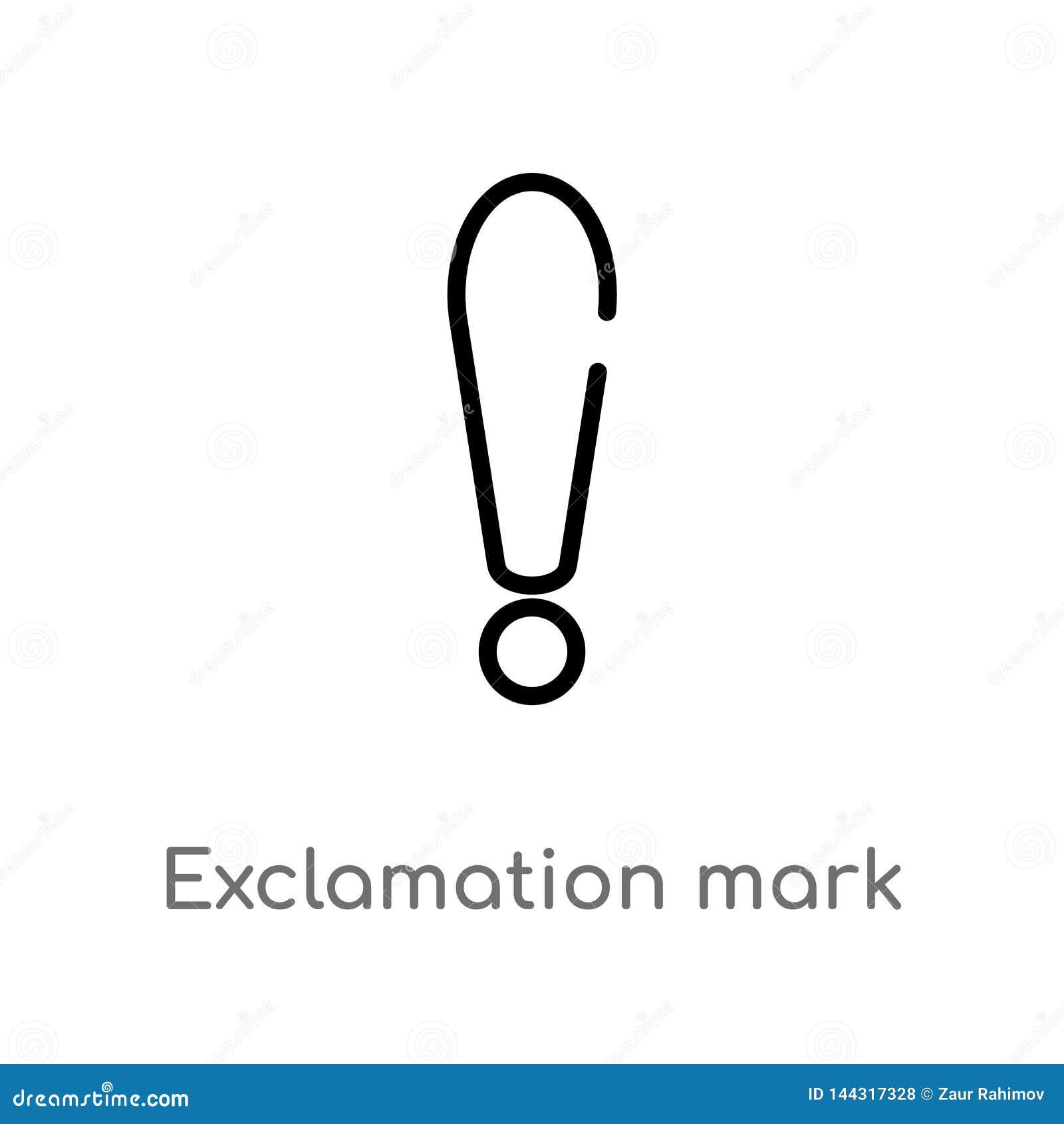 значок вектора восклицательного знака плана изолированная черная простая линия иллюстрация элемента от концепции знаков editable