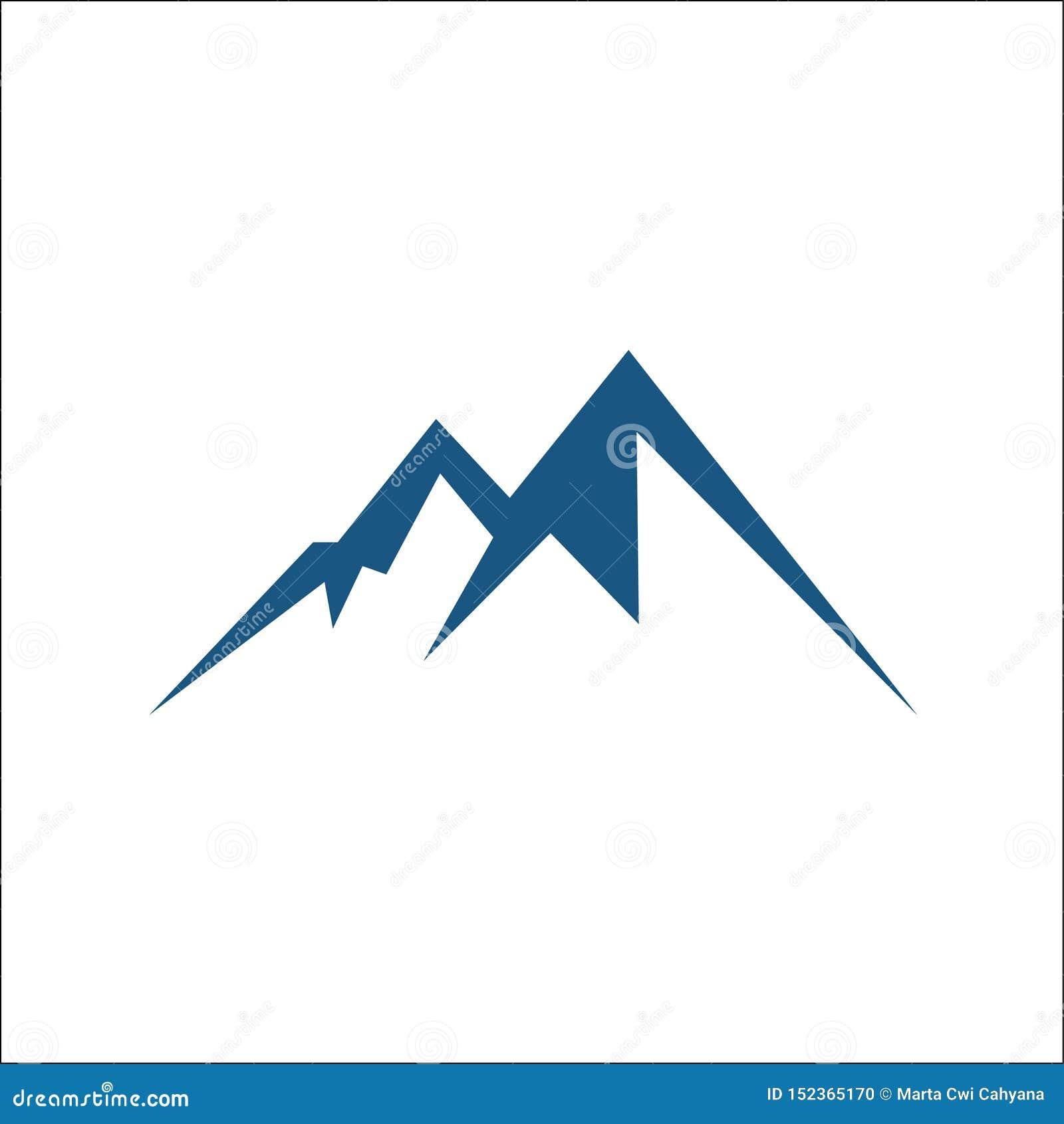Значок вектора горы изолированный на белой предпосылке