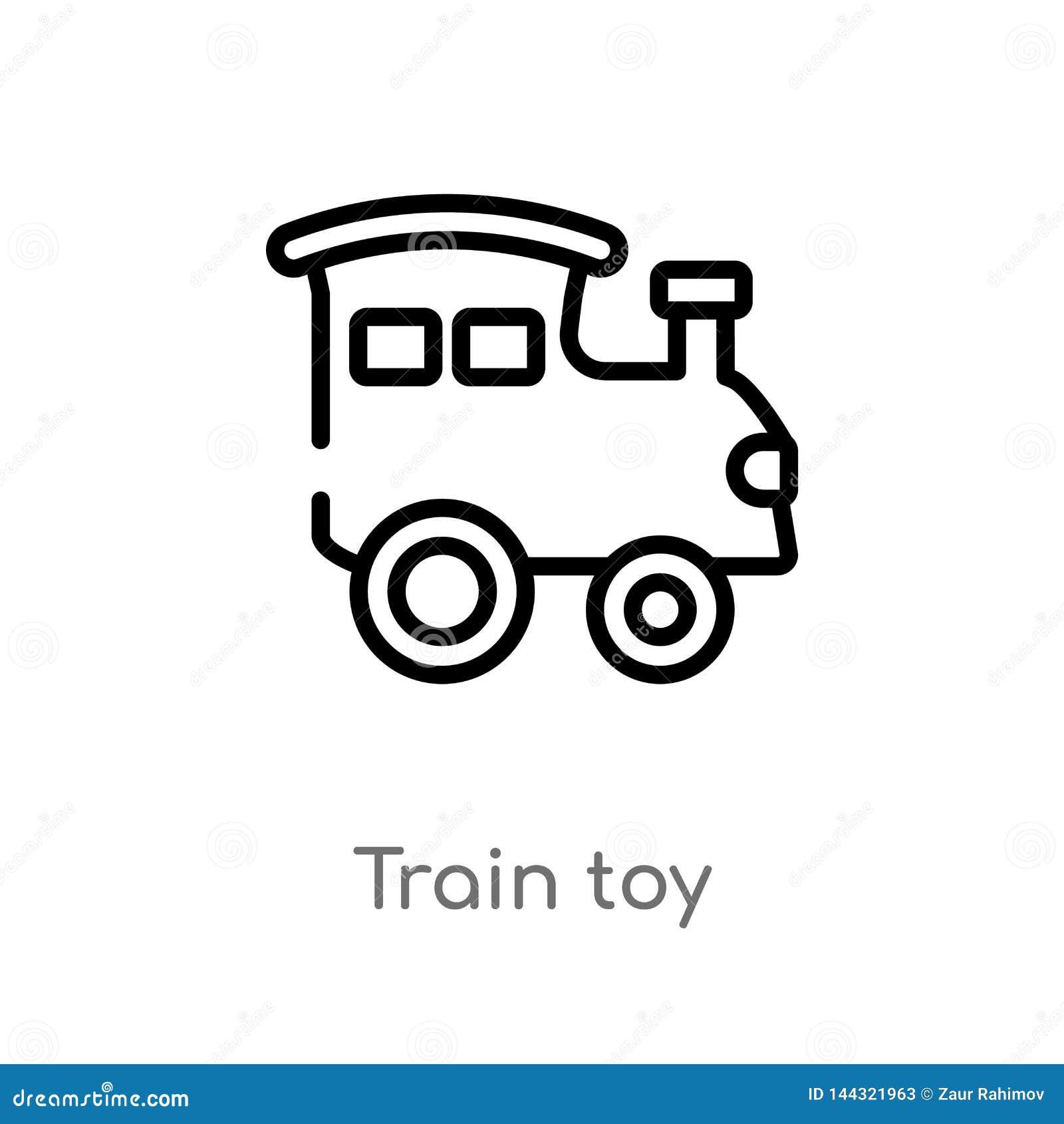 значок вектора игрушки поезда плана r editable игрушка поезда хода вектора