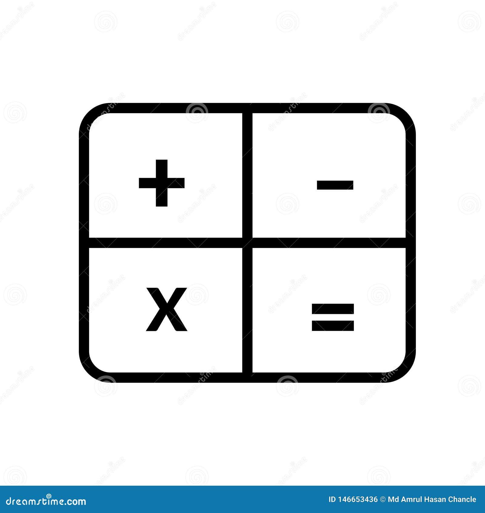 значок вектора калькулятора