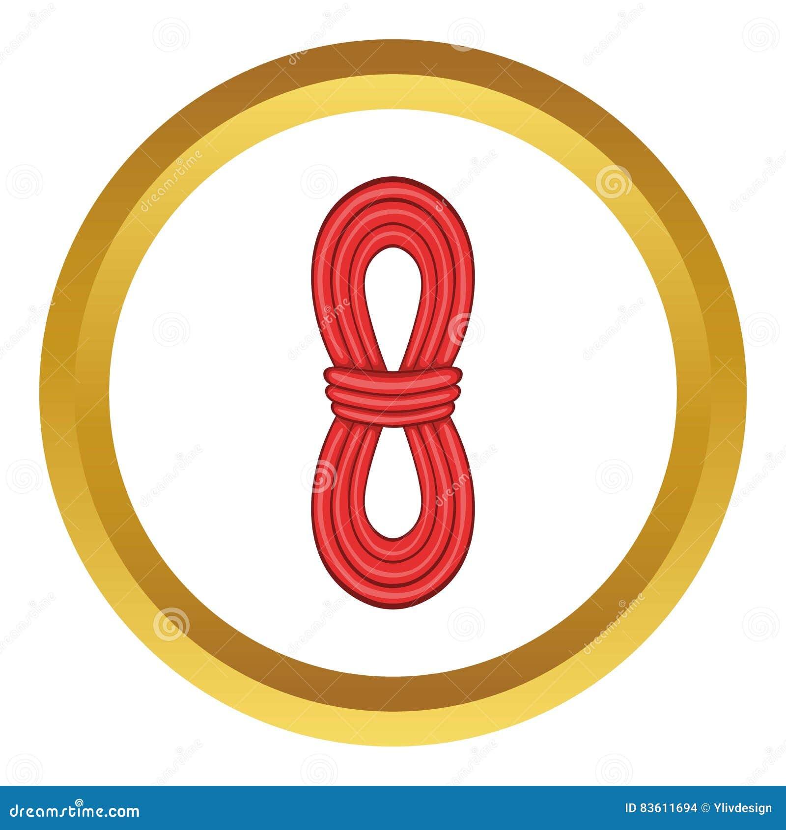 Значок вектора красной веревочки