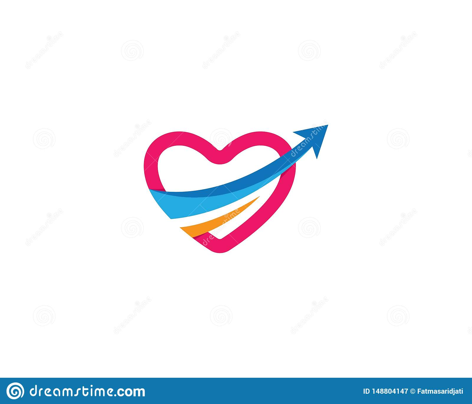 Значок вектора любов