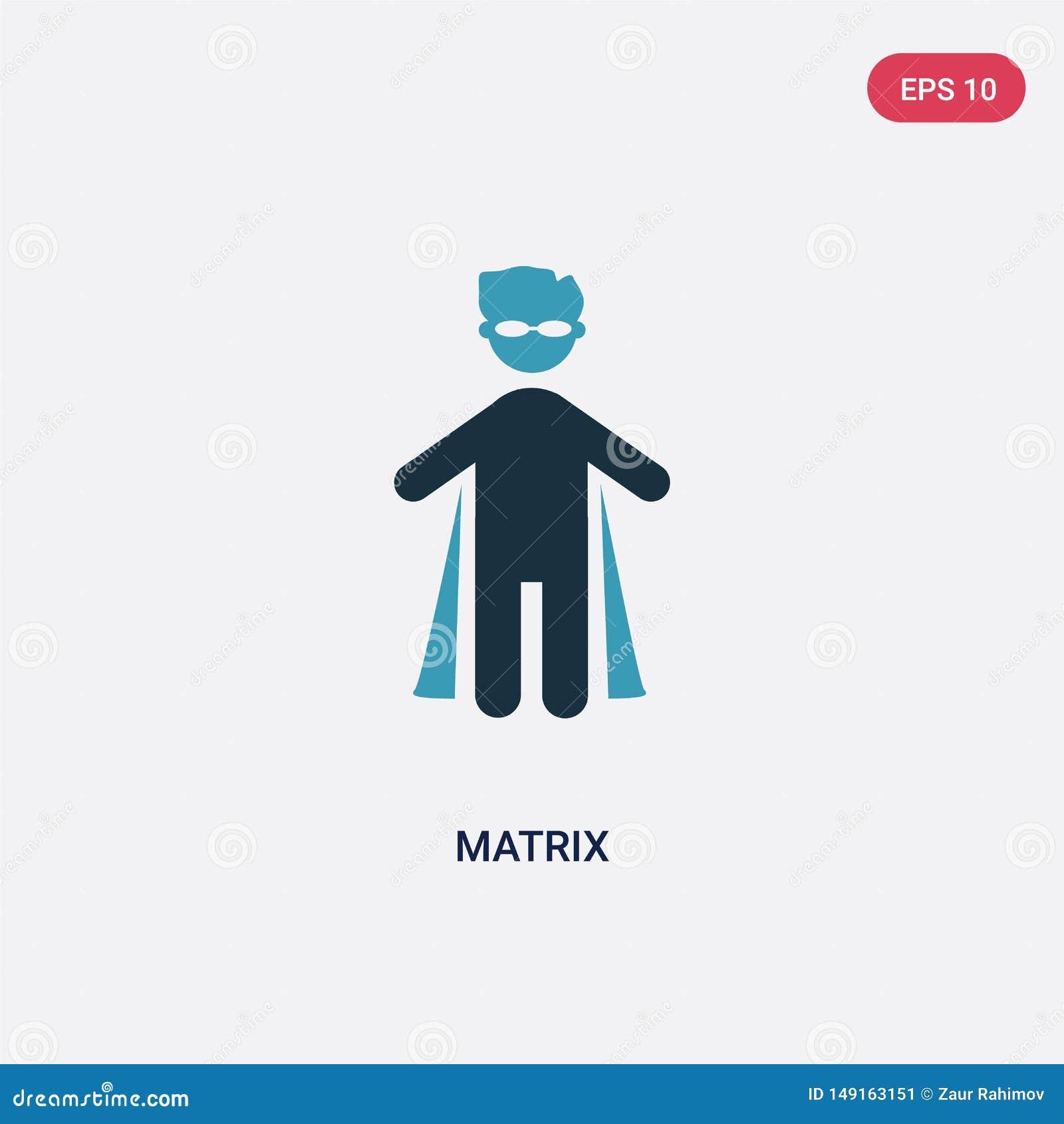 Значок вектора матрицы 2 цветов от концепции людей изолированный голубой символ знака вектора матрицы может быть пользой для сети