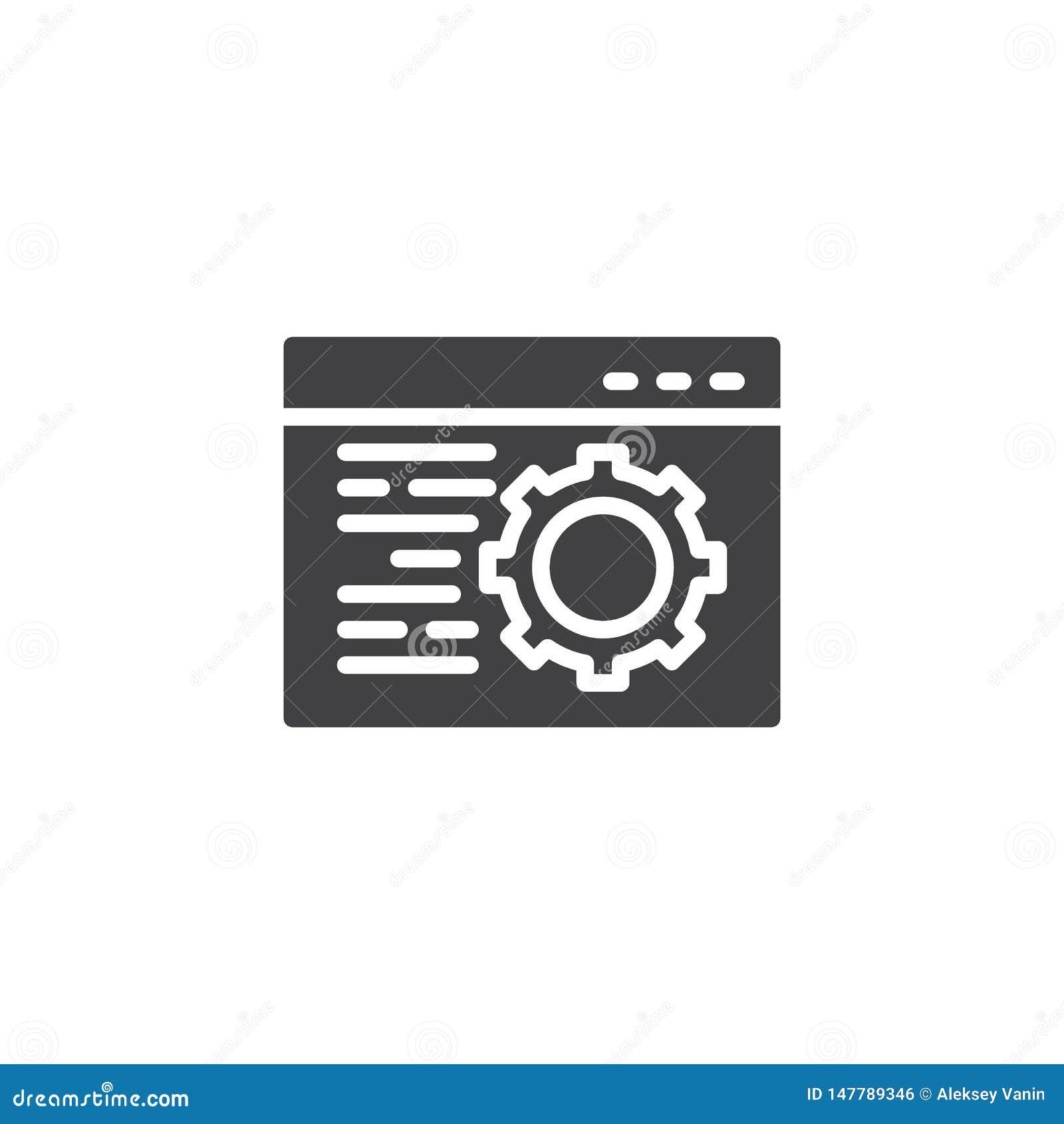 Значок вектора настройки браузера