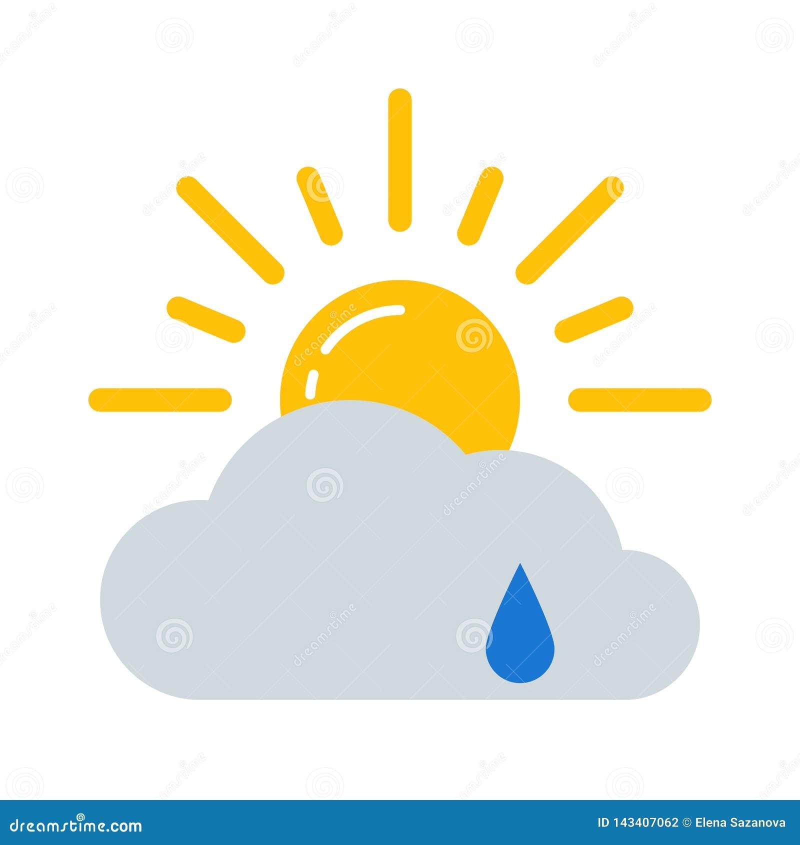 Значок вектора прогноза погоды