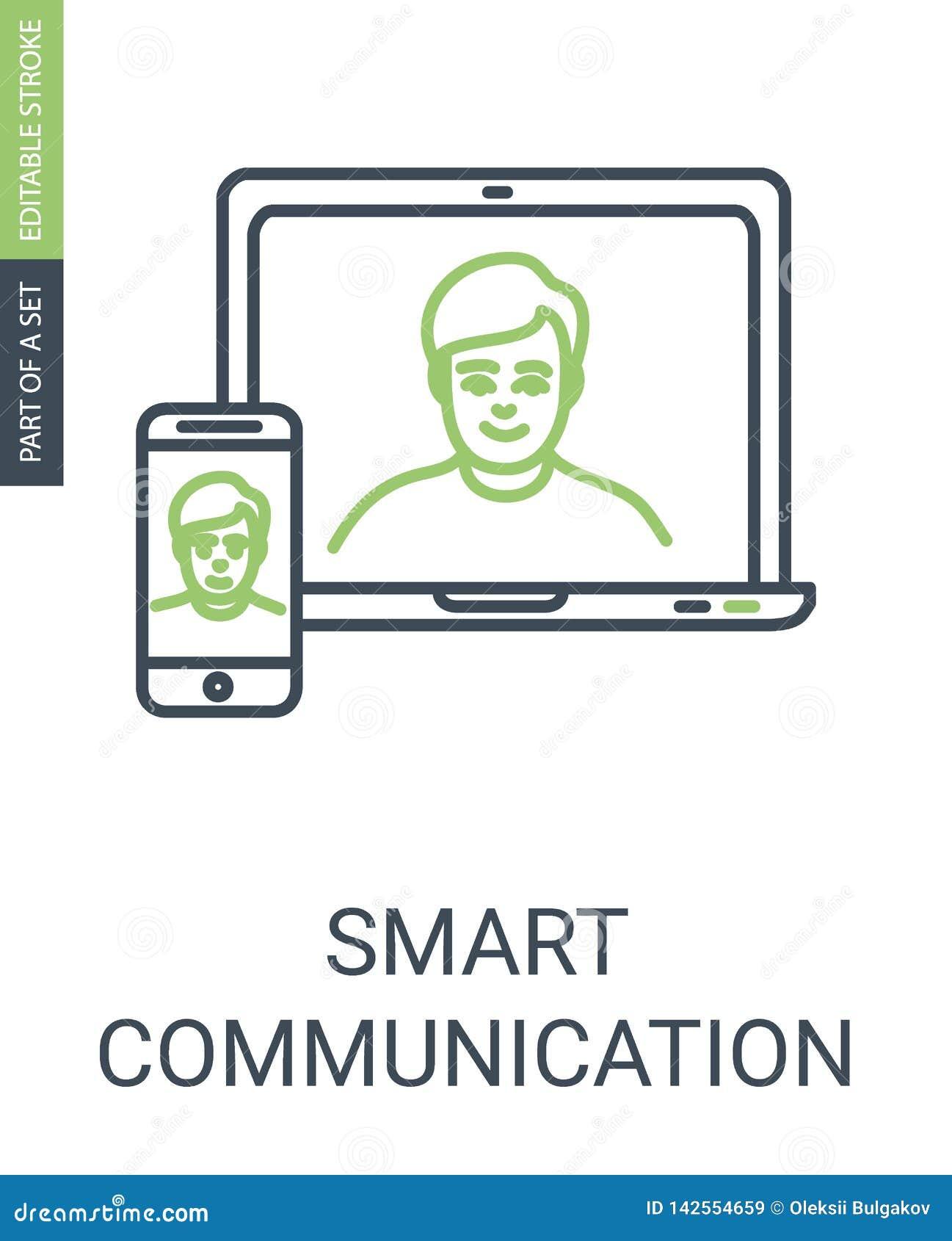 Значок вектора связи с Laptom и телефоном