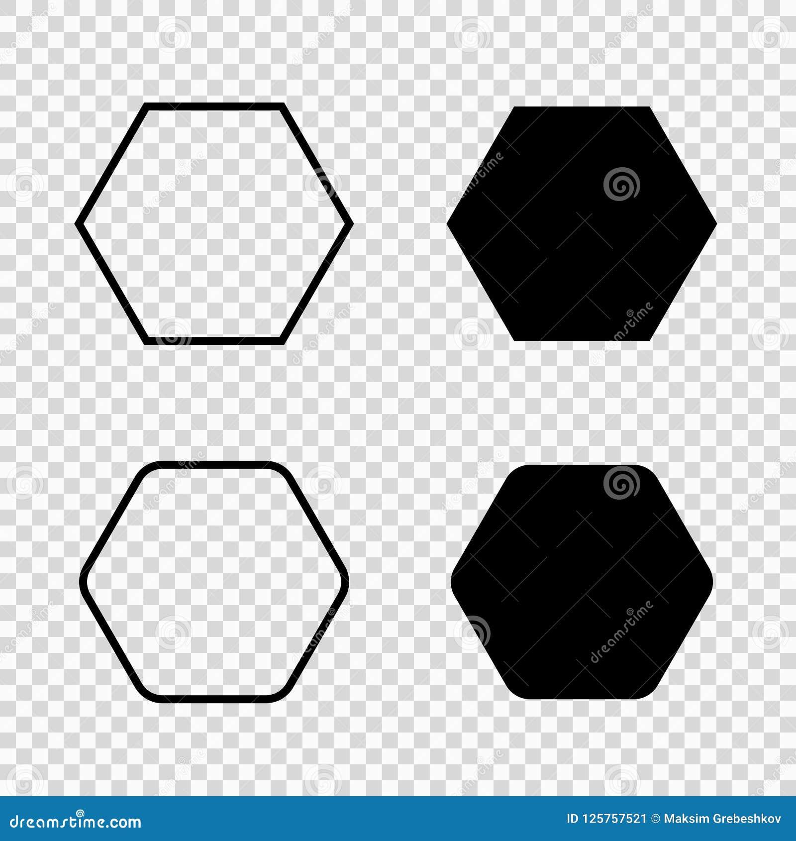 Значок вектора шестиугольника