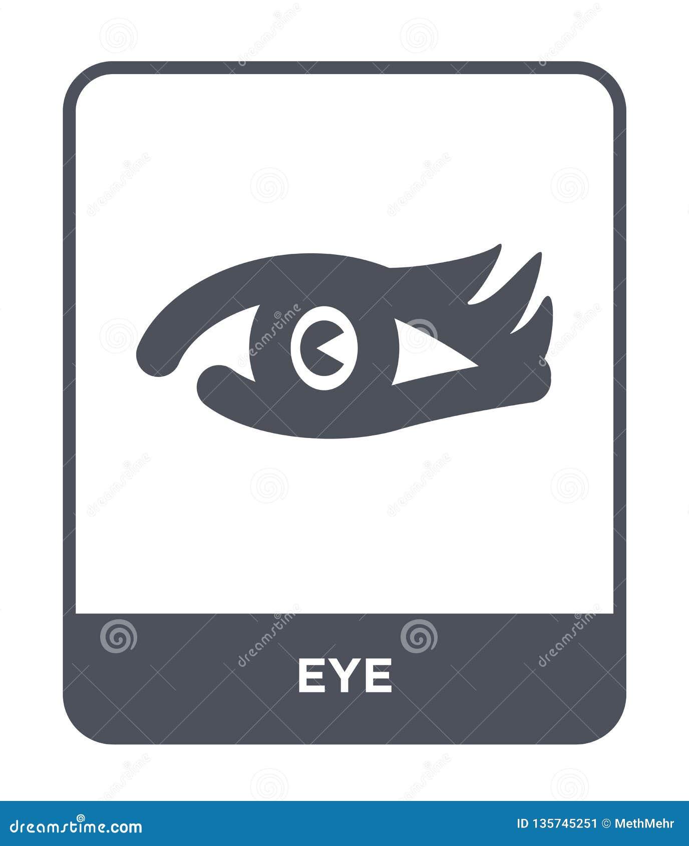 значок глаза в ультрамодном стиле дизайна Значок глаза изолированный на белой предпосылке символ значка вектора глаза простой и с