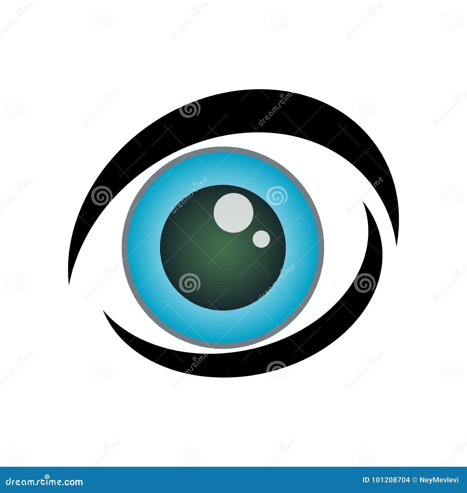 Значок голубого глаза очень милый