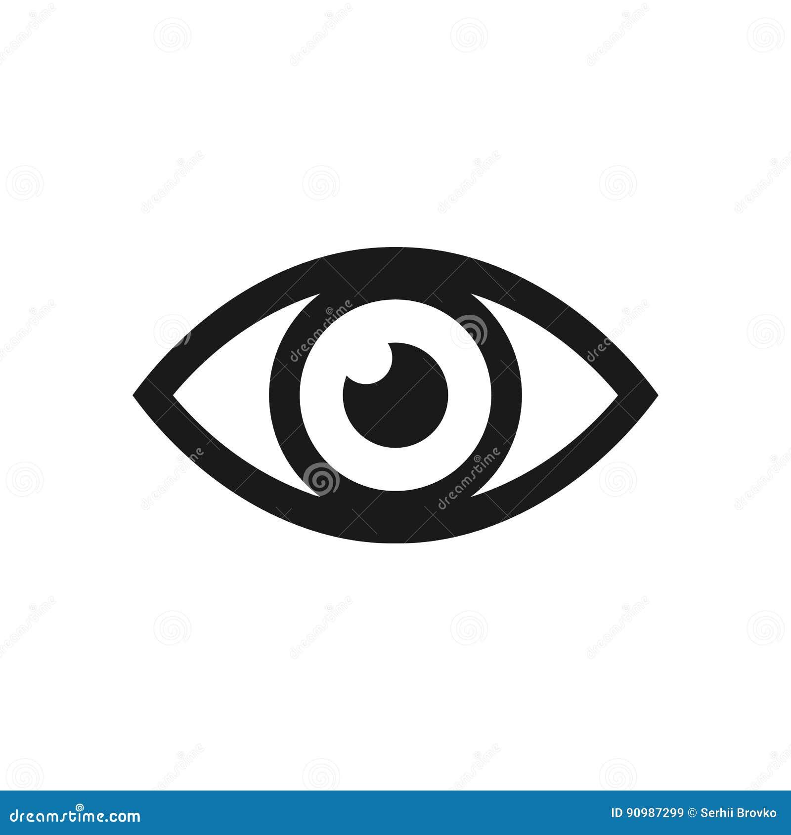 Значок глаза также вектор иллюстрации притяжки corel