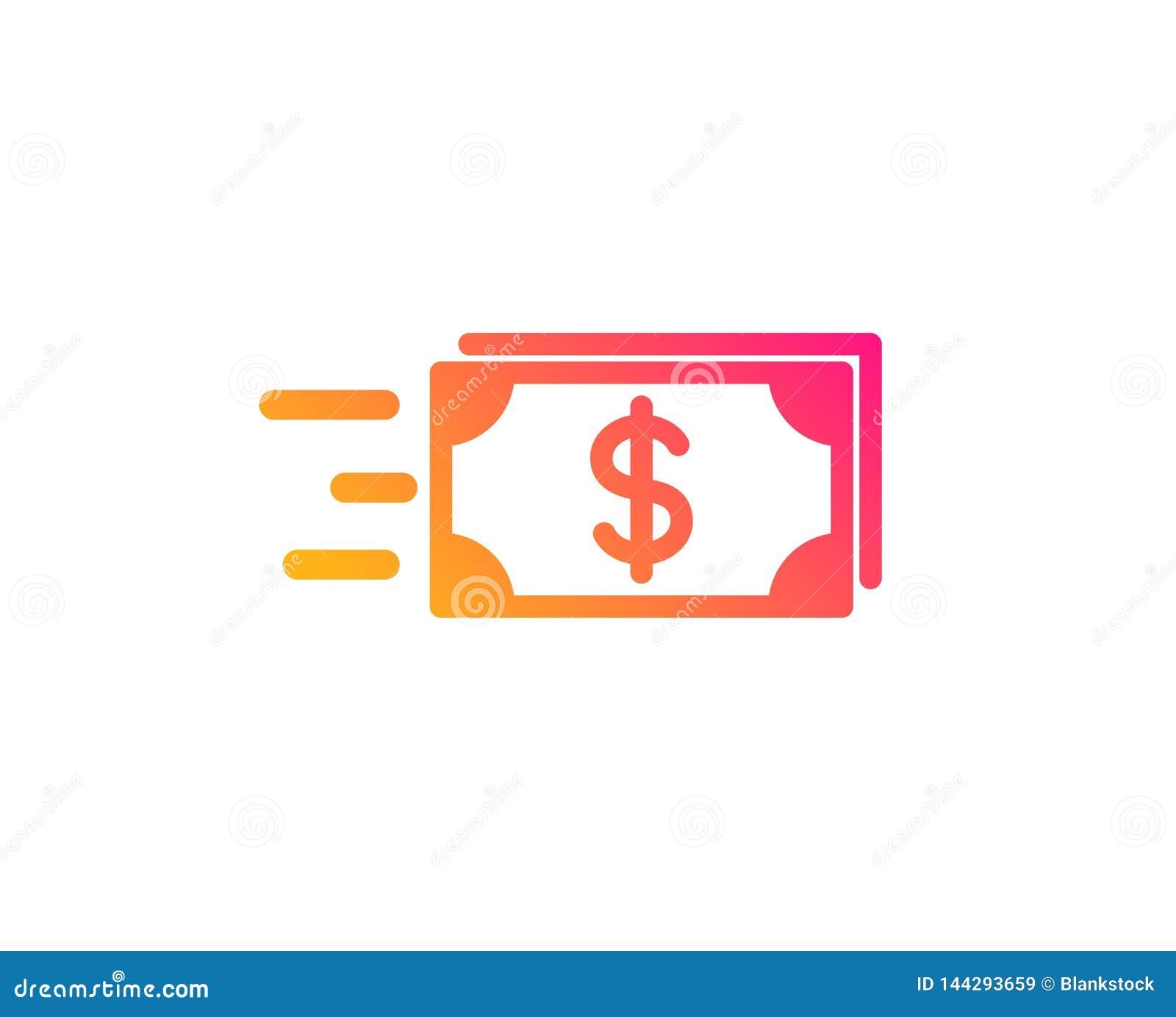 Значок денег наличных денег передачи banister вектор