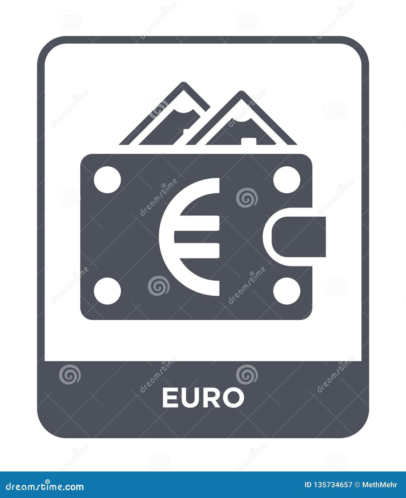 значок евро в ультрамодном стиле дизайна значок евро изолированный на белой предпосылке символ значка вектора евро простой и совр