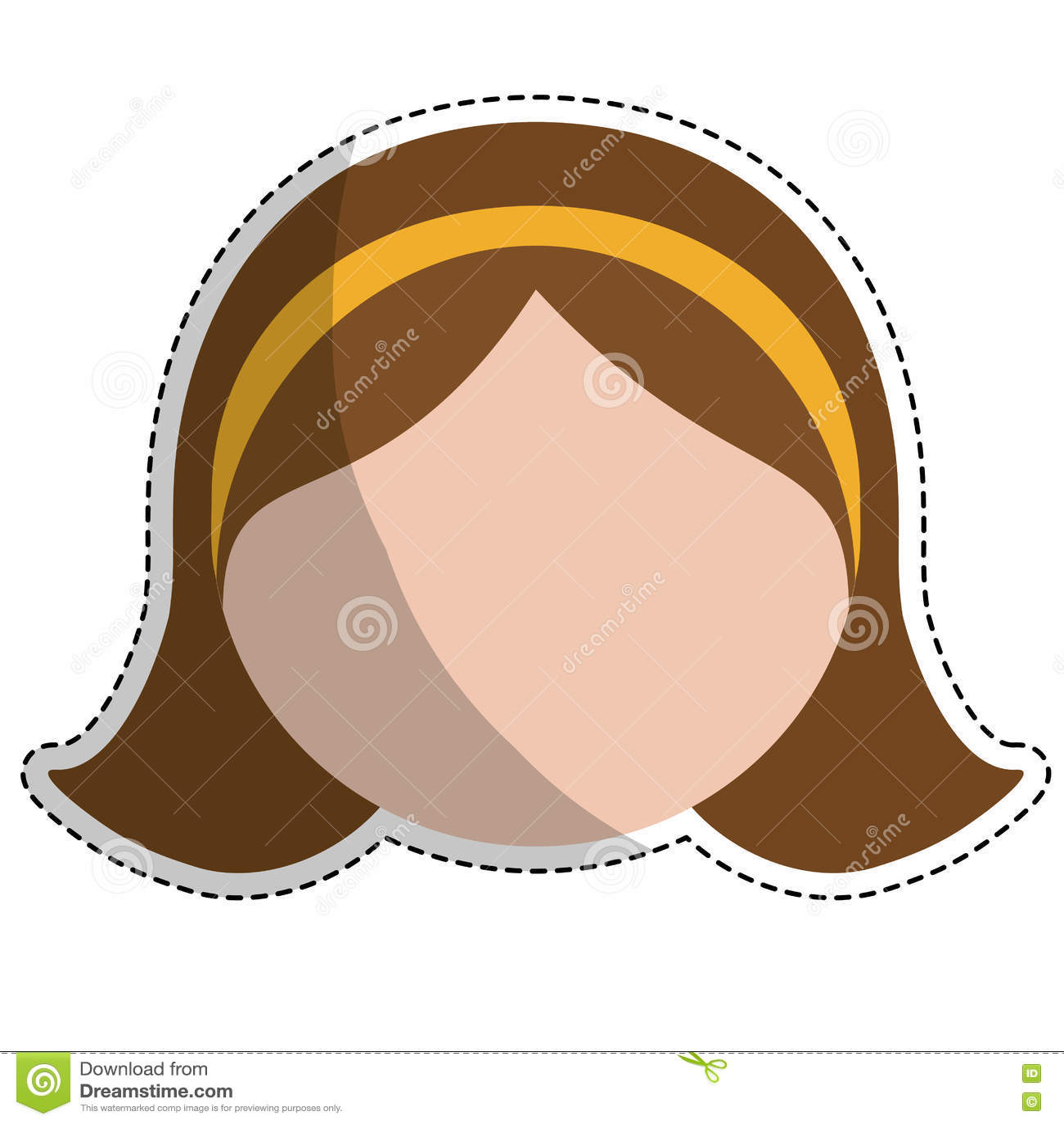 Значок женщины шаржа