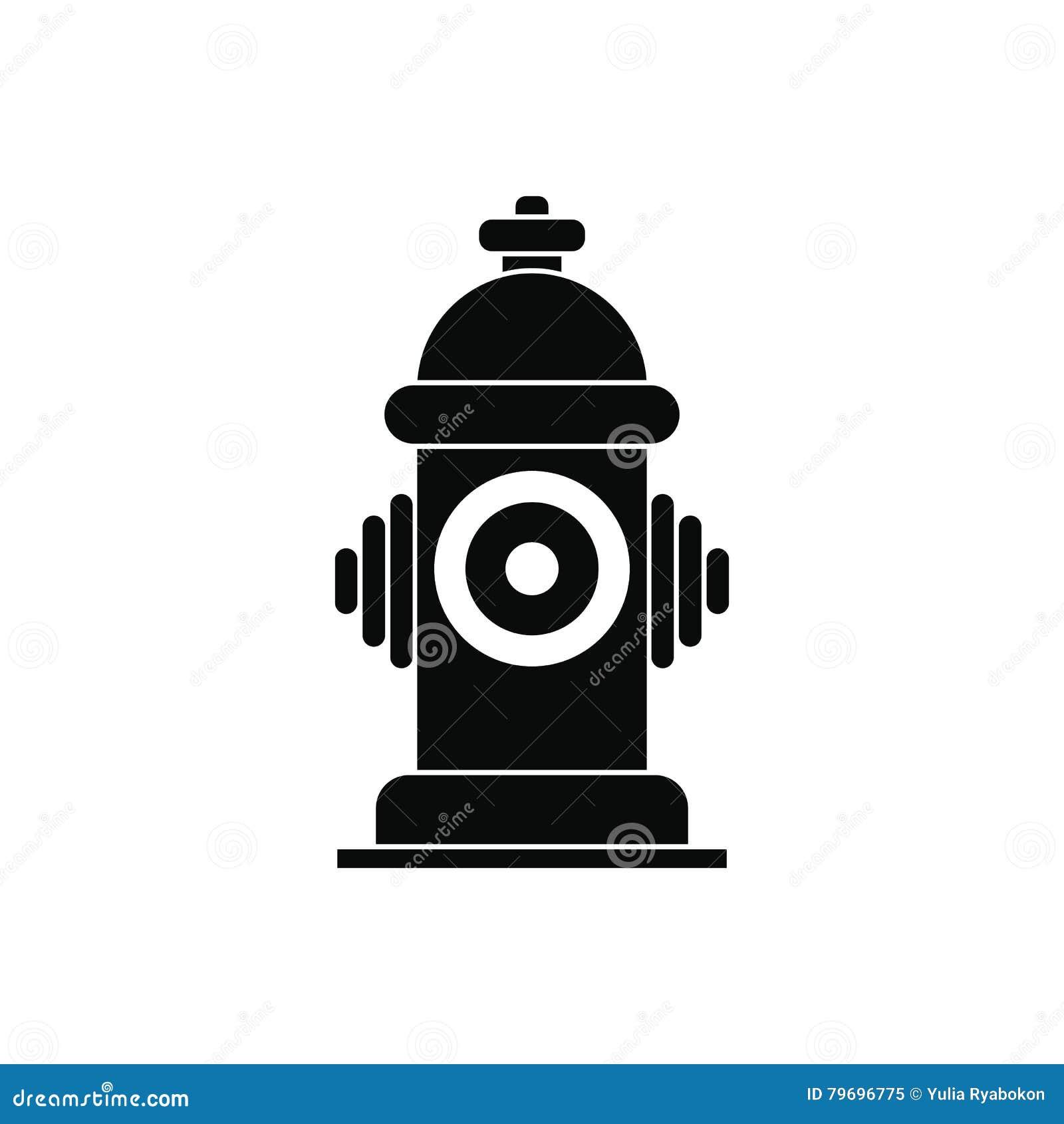 Значок жидкостного огнетушителя черный простой