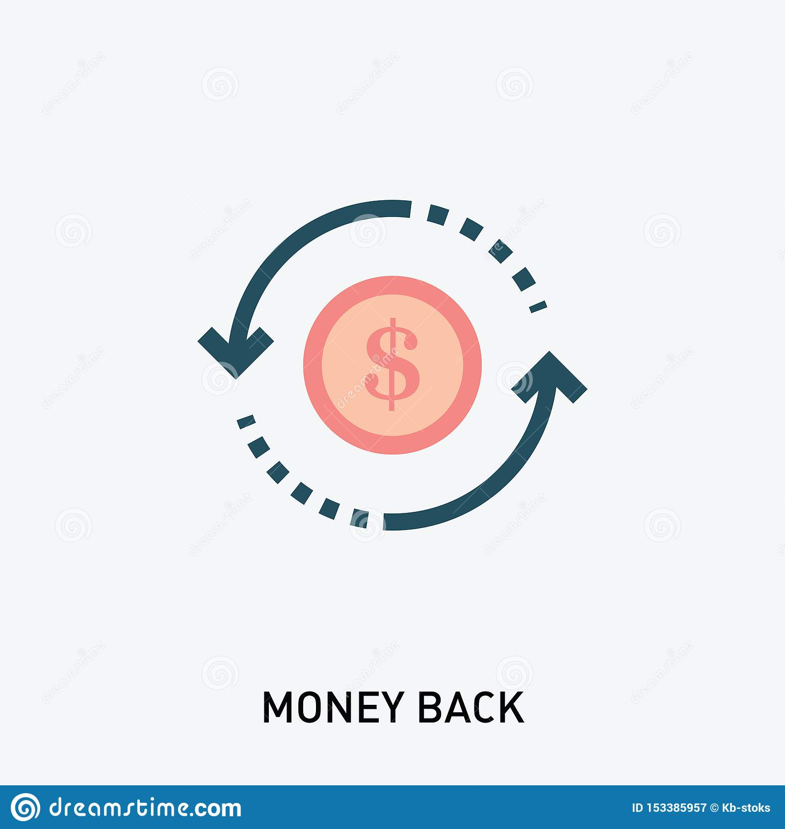 Значок задней части денег Значок глифа рентабельности инвестиций r