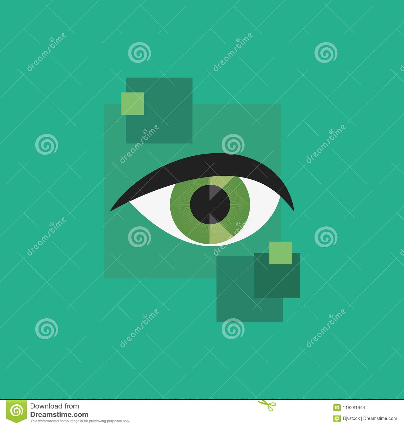 Значок зеленого глаза