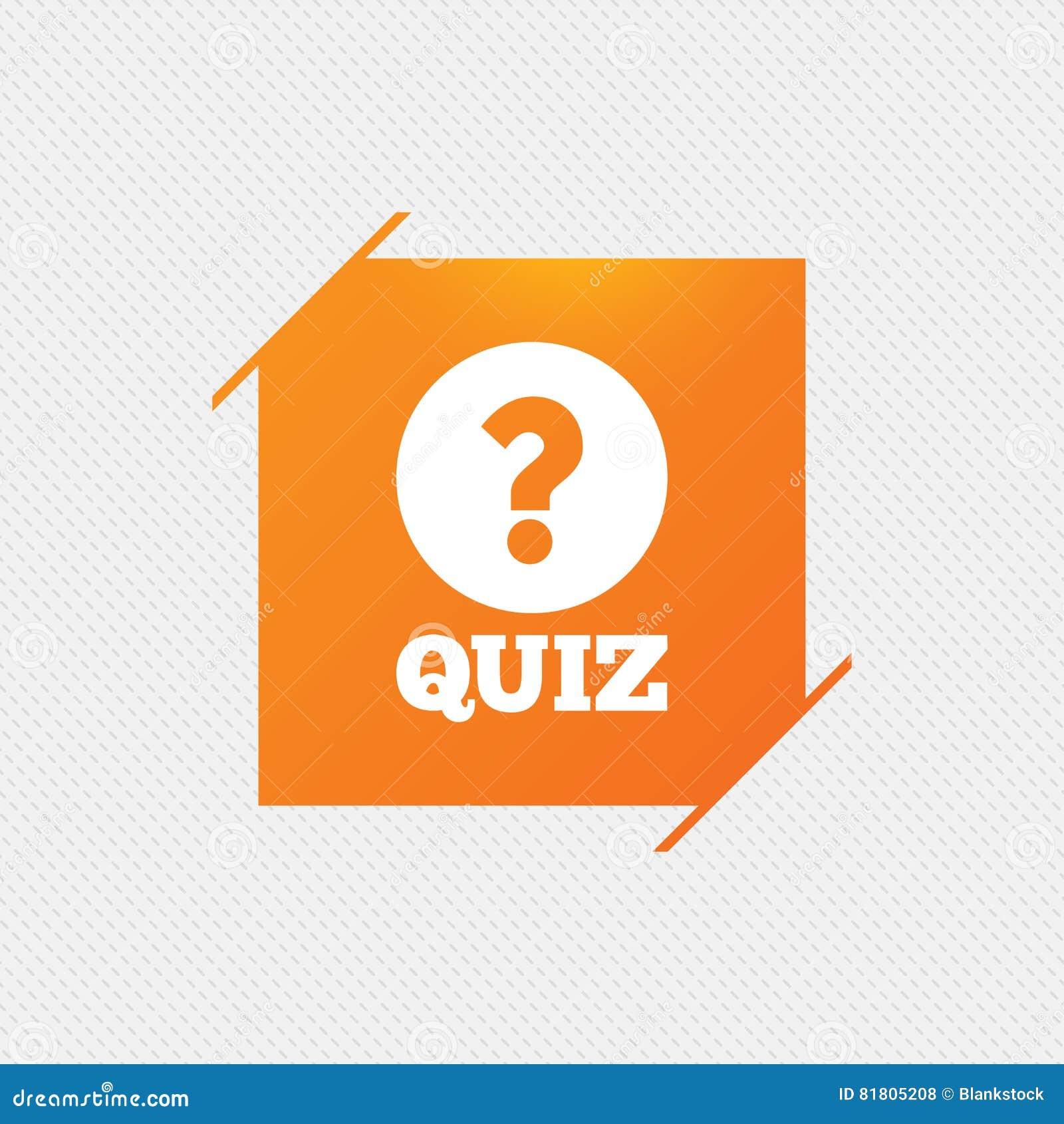 Значок знака викторины Игра вопросов и ответов