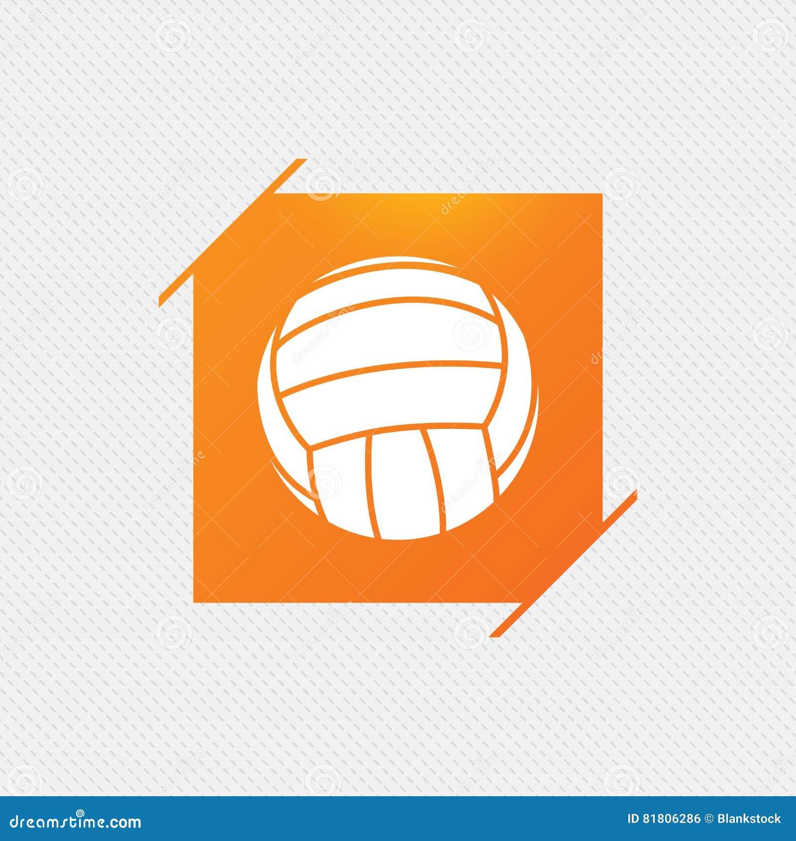Значок знака волейбола Символ спорта пляжа