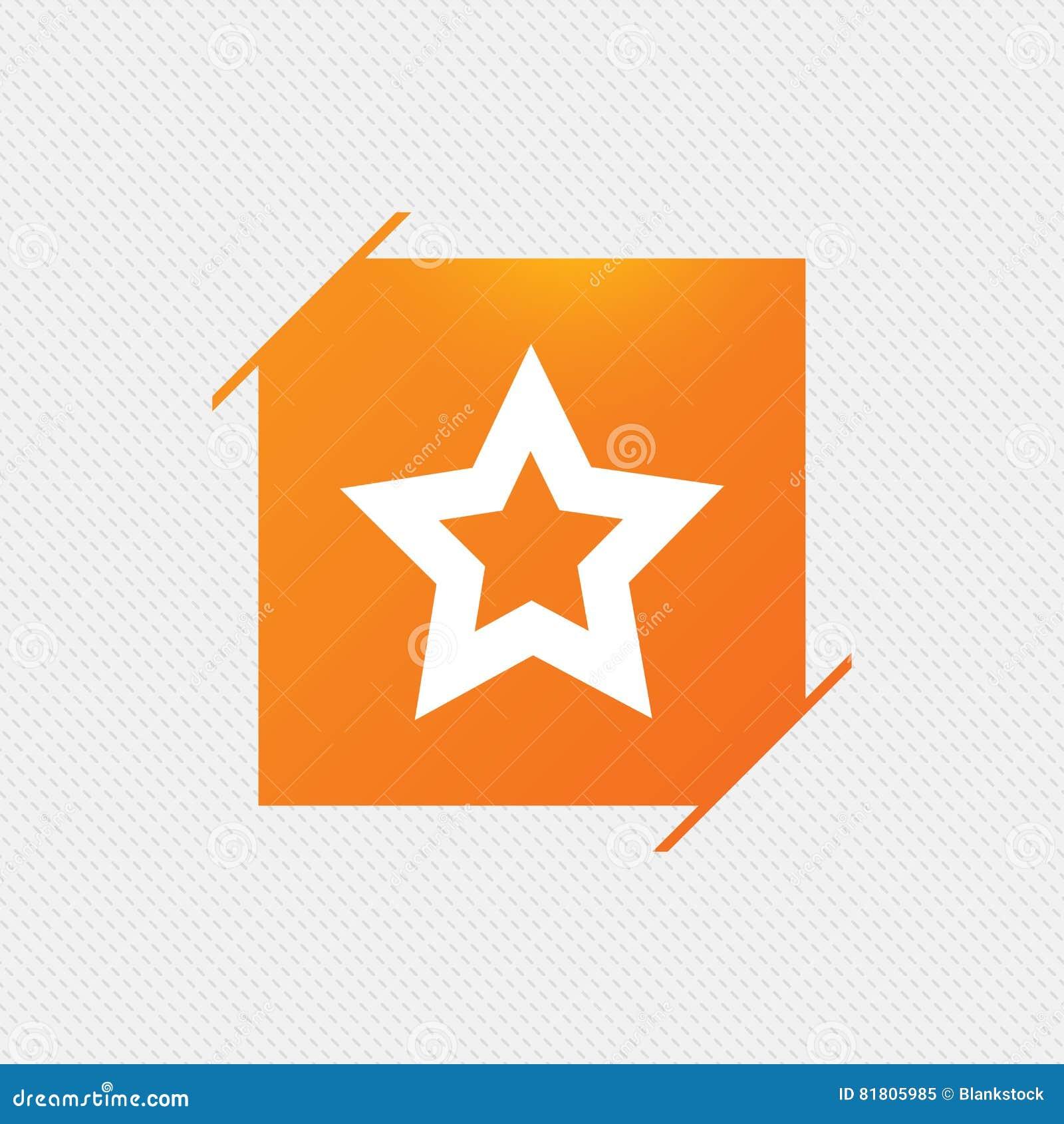 Значок знака звезды Любимая кнопка навигация